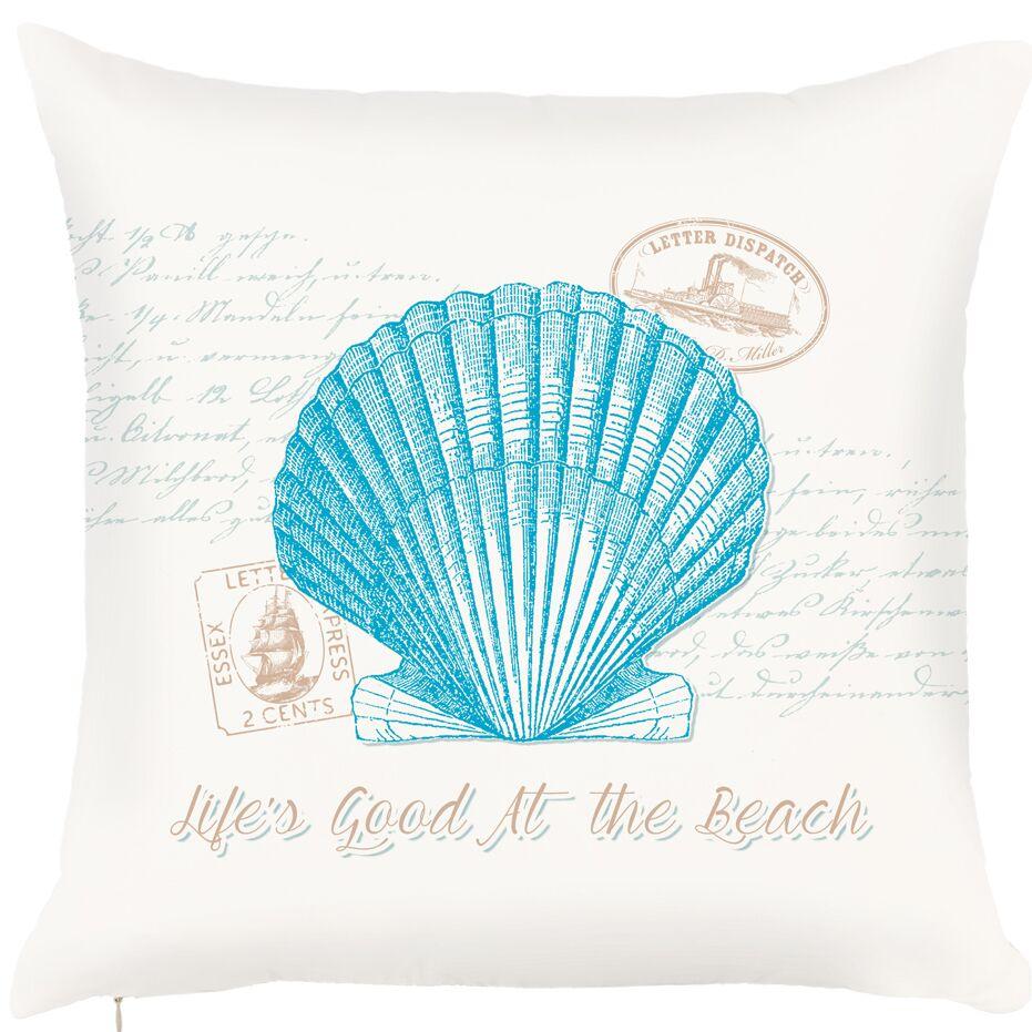 Brannon Seashell Message Throw Pillow (Set of 2)