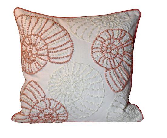 Searsport Snail 100% Cotton Throw Pillow