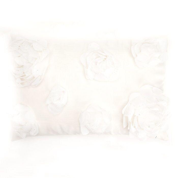 Soft Flower Throw Pillow