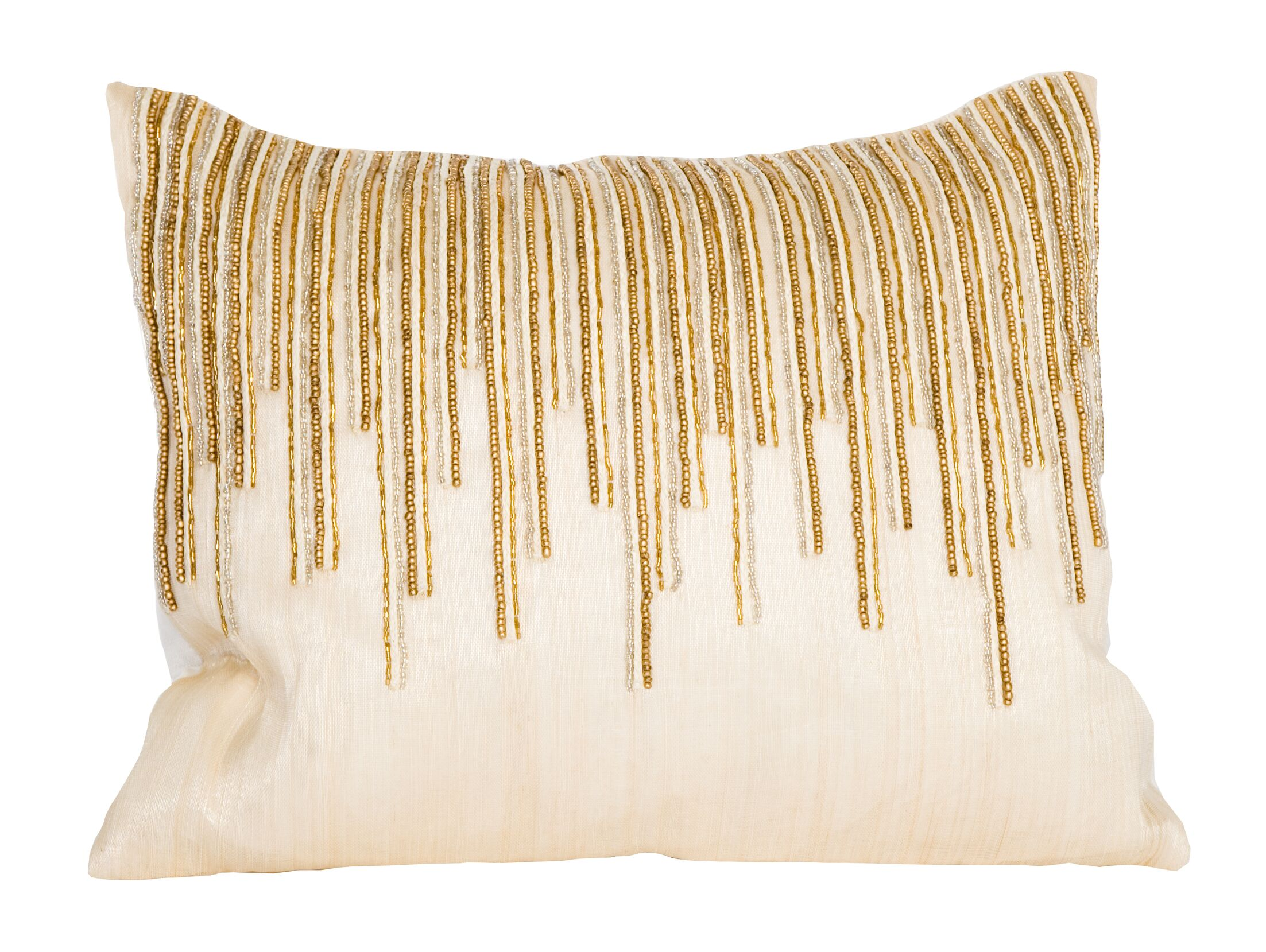 Beaded Top Lumbar Pillow