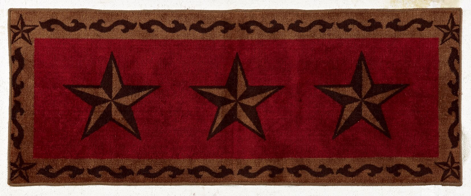 Alexis Star Red Area Rug