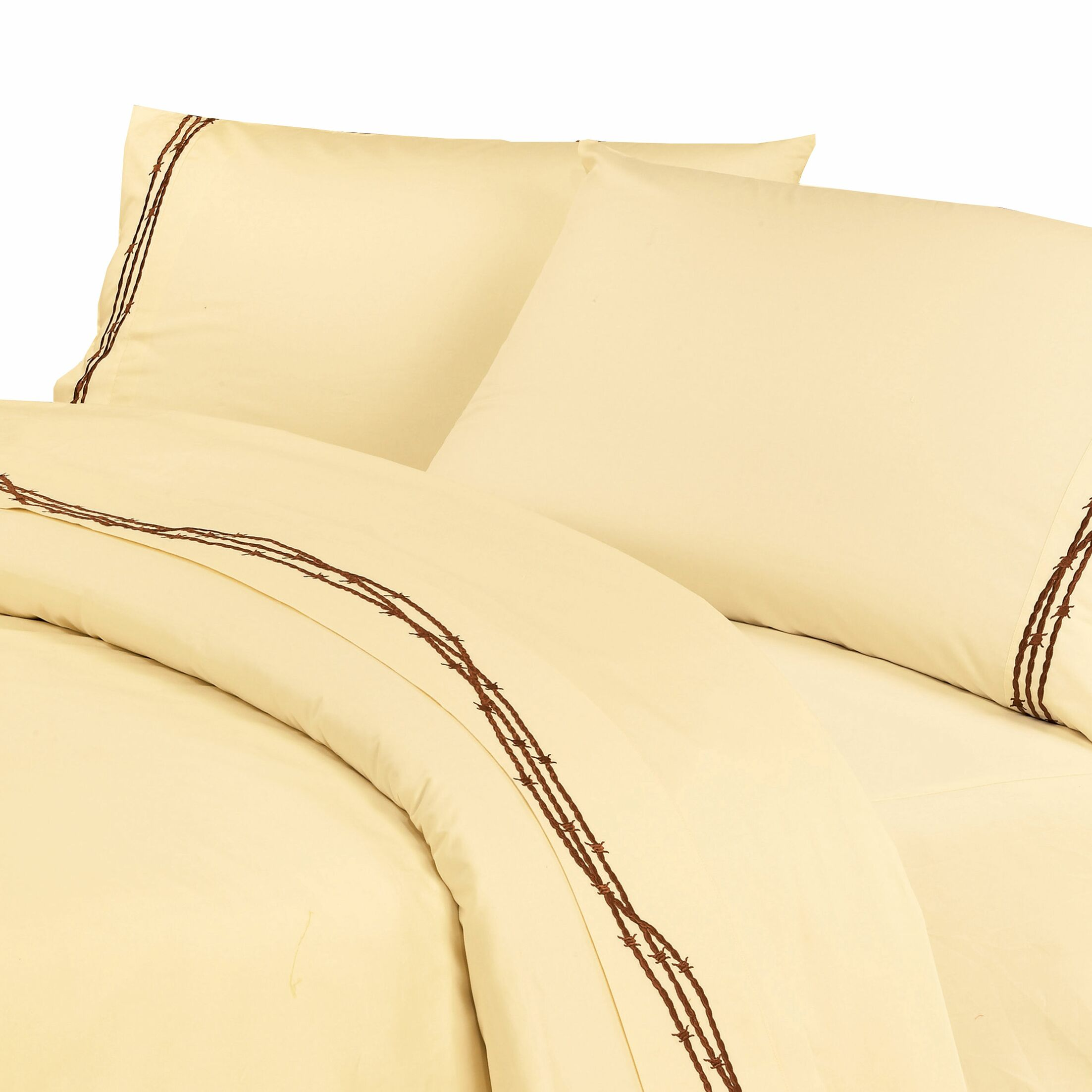Galyean 350 Thread Count Sheet Set Size: Queen, Color: Cream