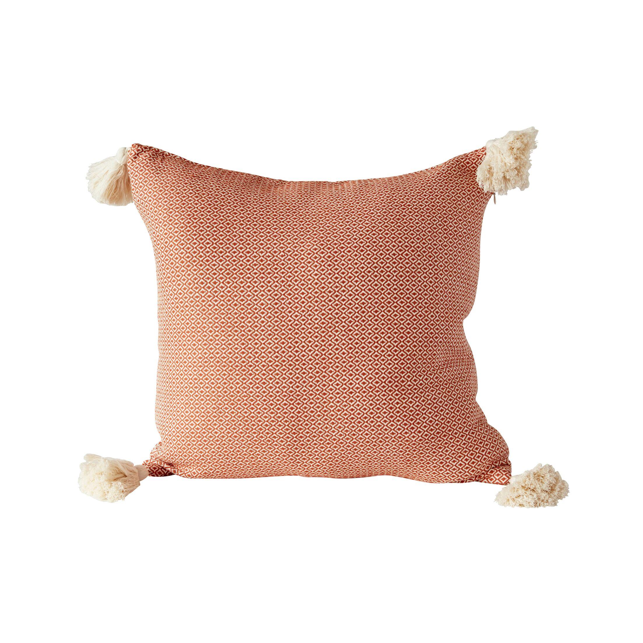 Shayla Tassel Woven 100% Cotton Throw Pillow