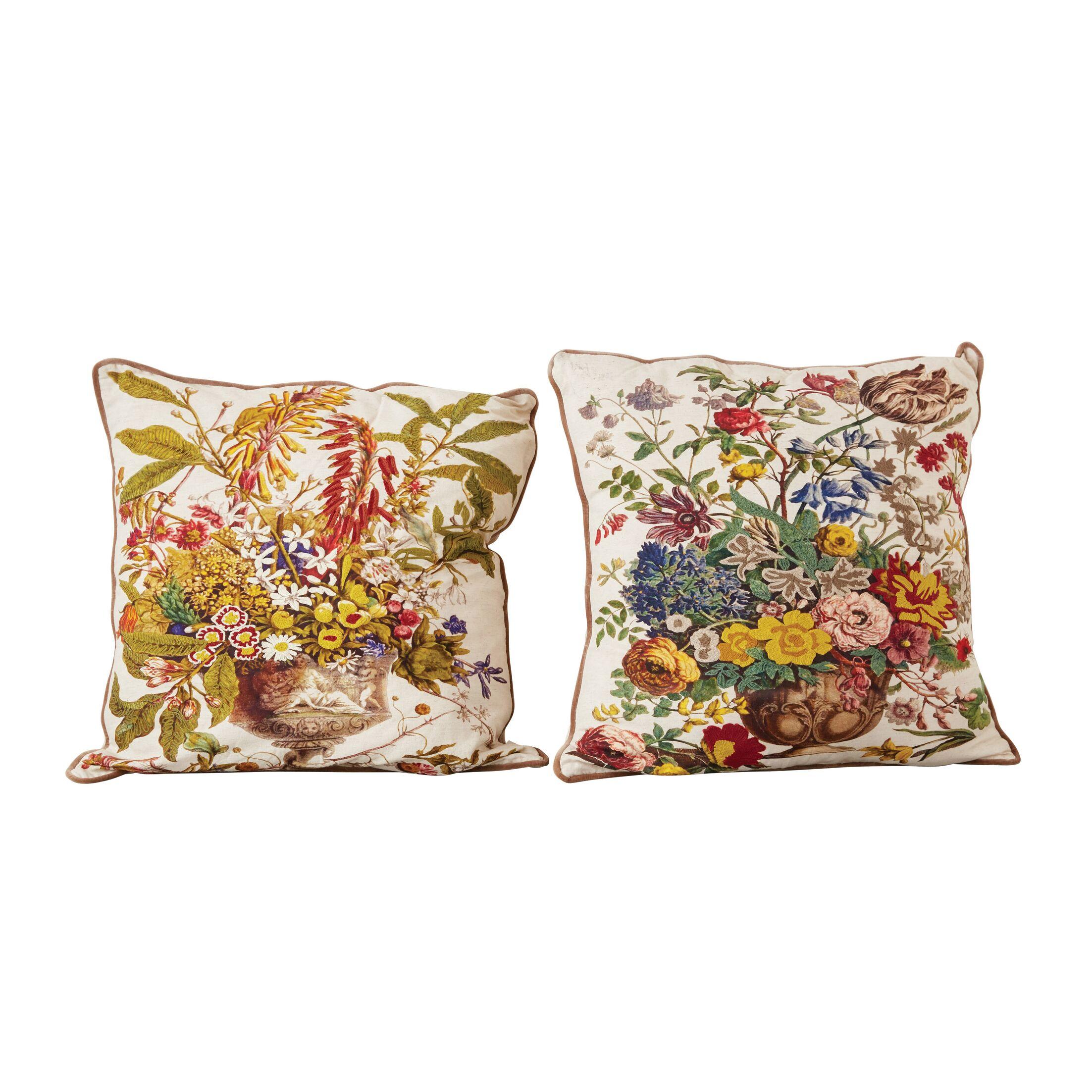 Haledon 100% Cotton Printed 2 Piece Euro Pillow Set