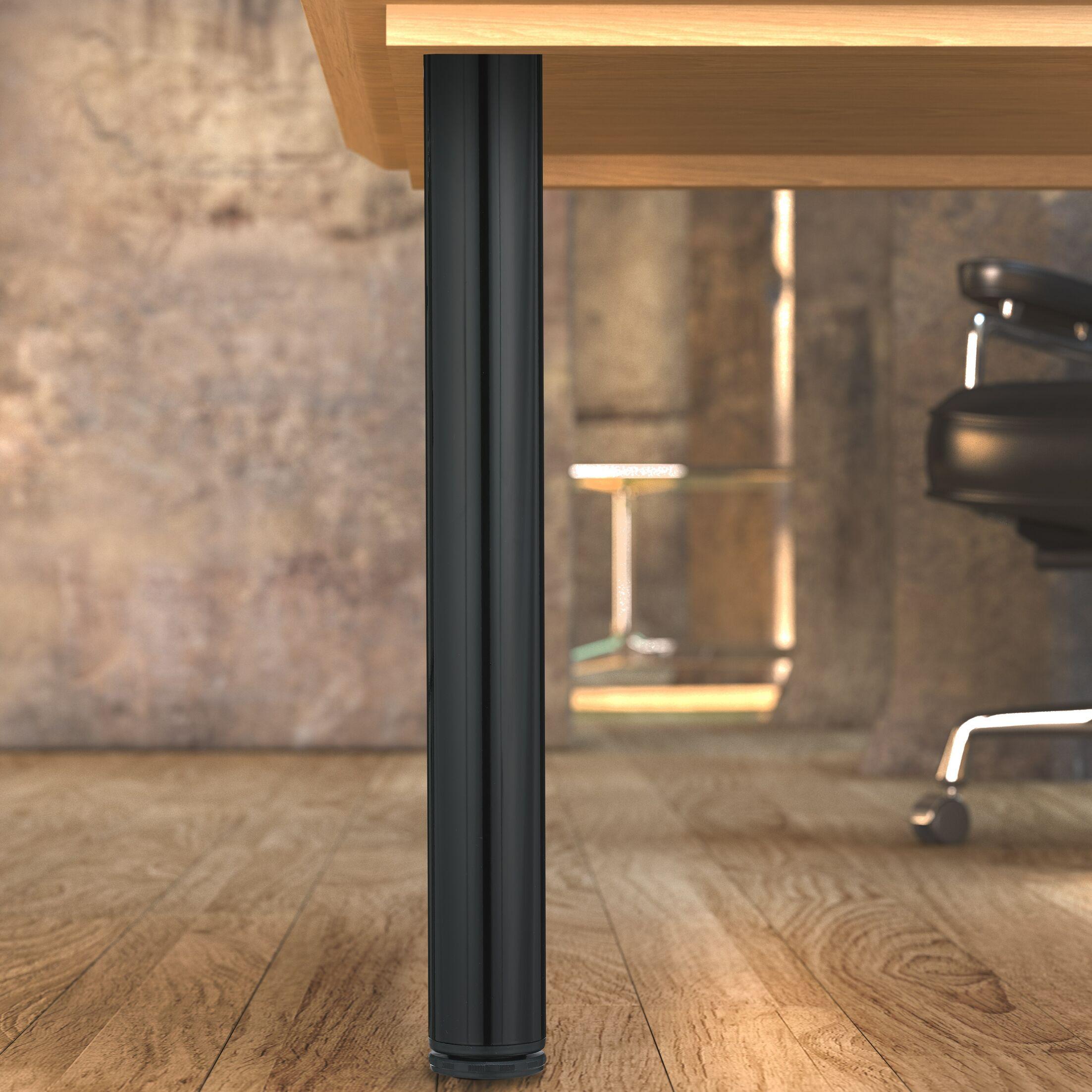 Adjustable Table Leg Finish: Black
