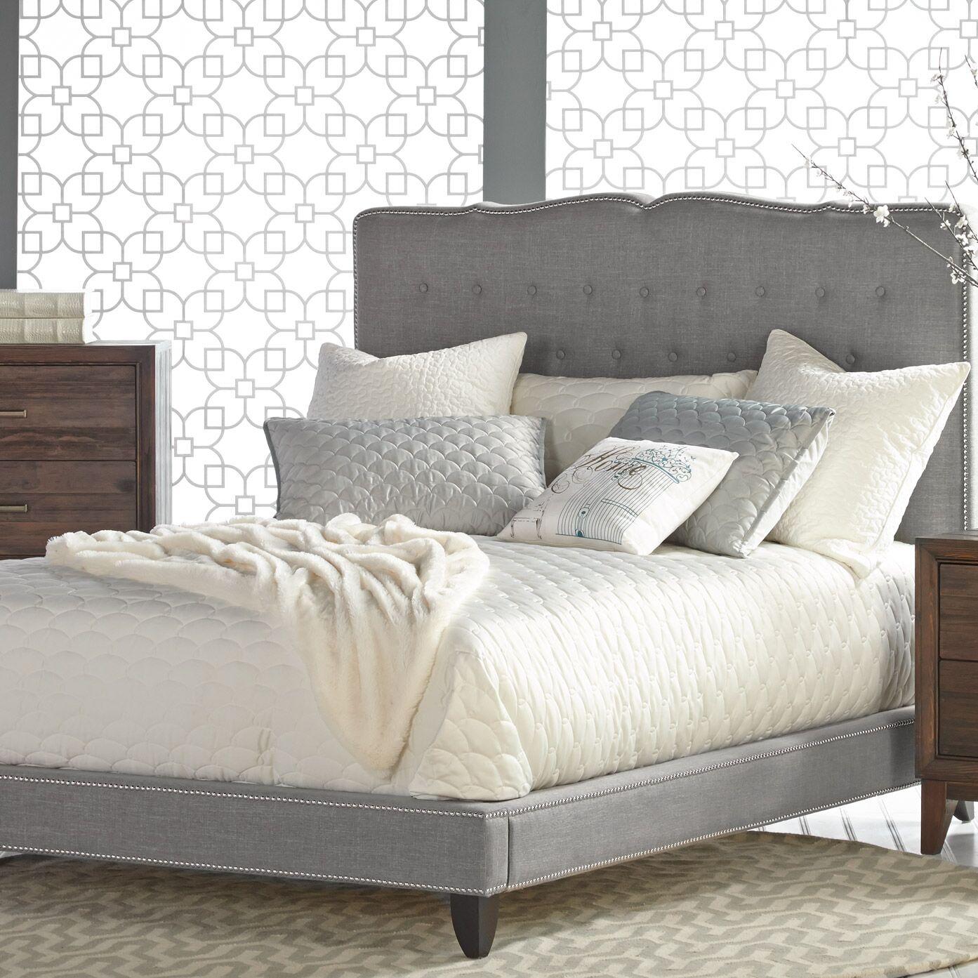 Markes Upholstered Platform Bed Size: King, Color: Espresso