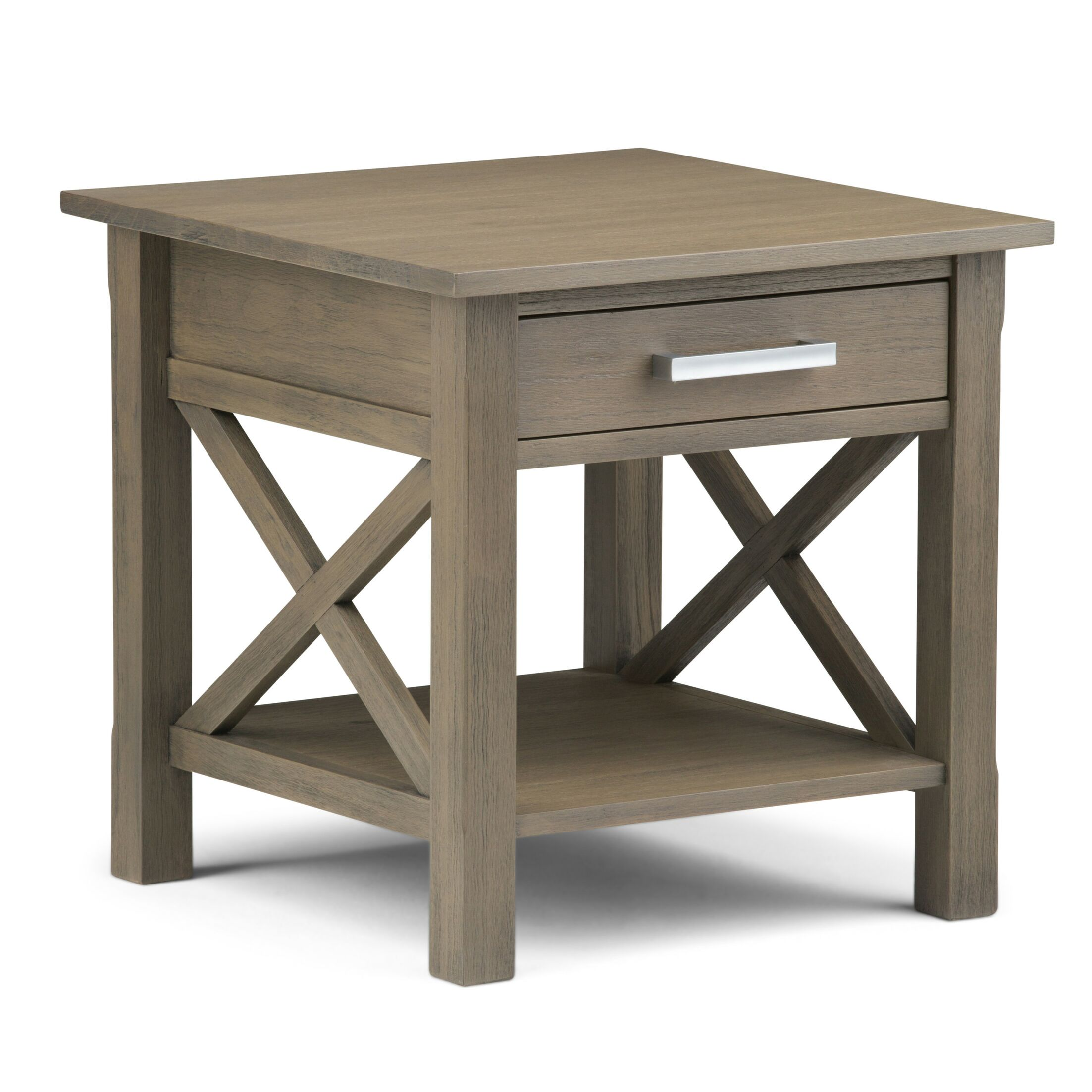 Kitchener End Table With Storage� Color: Farmhouse Gray