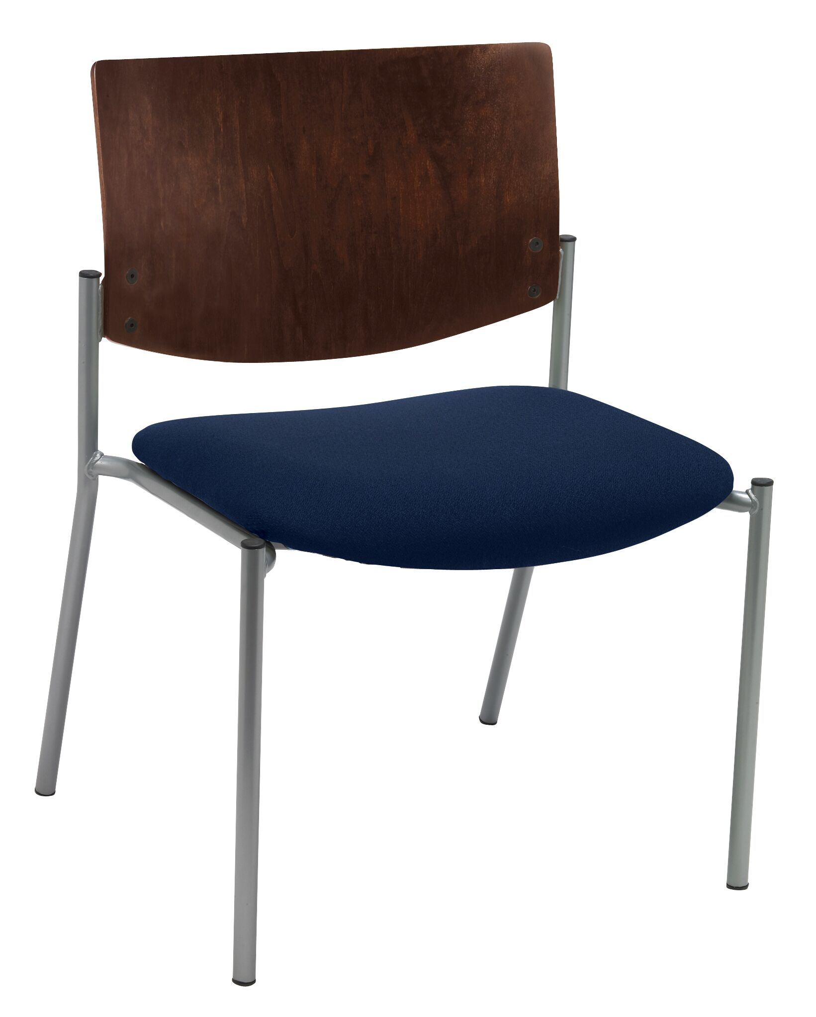 Evolve Big and Tall Armless Guest Chair Frame Finish: Chocolate, Seat Finish: Navy Vinyl