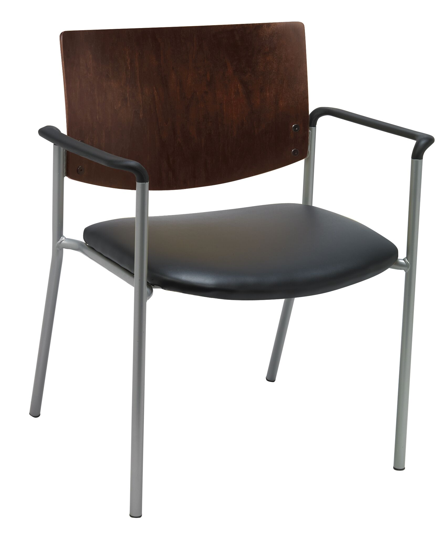 Evolve Big and Tall Guest Chair Frame Finish: Chocolate, Seat Finish: Black  Vinyl