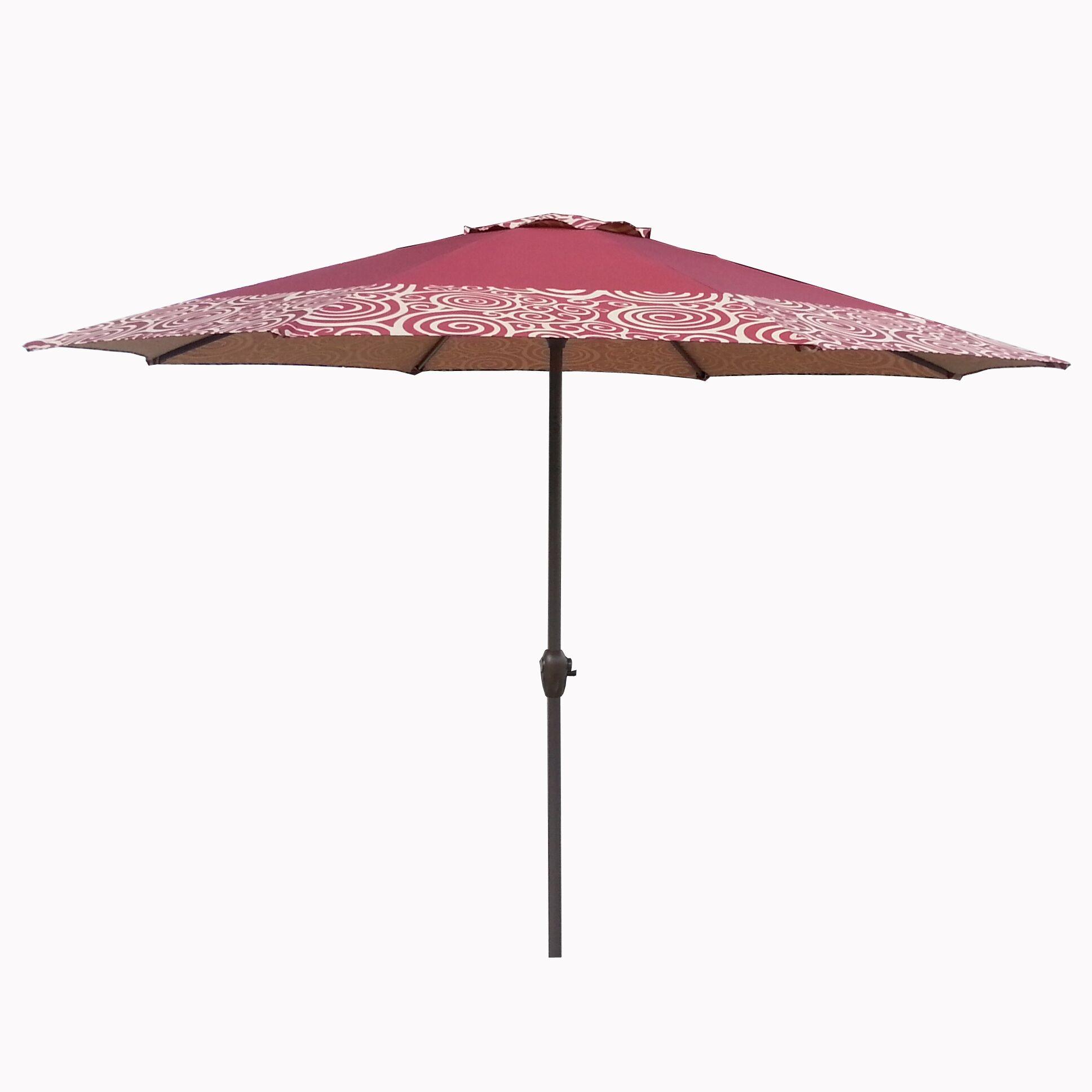 9' Market Umbrella Fabric: Burgundy