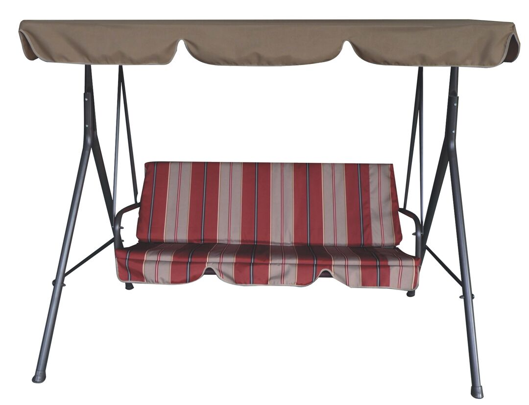3 Seat Swing with Canopy Leaf Style