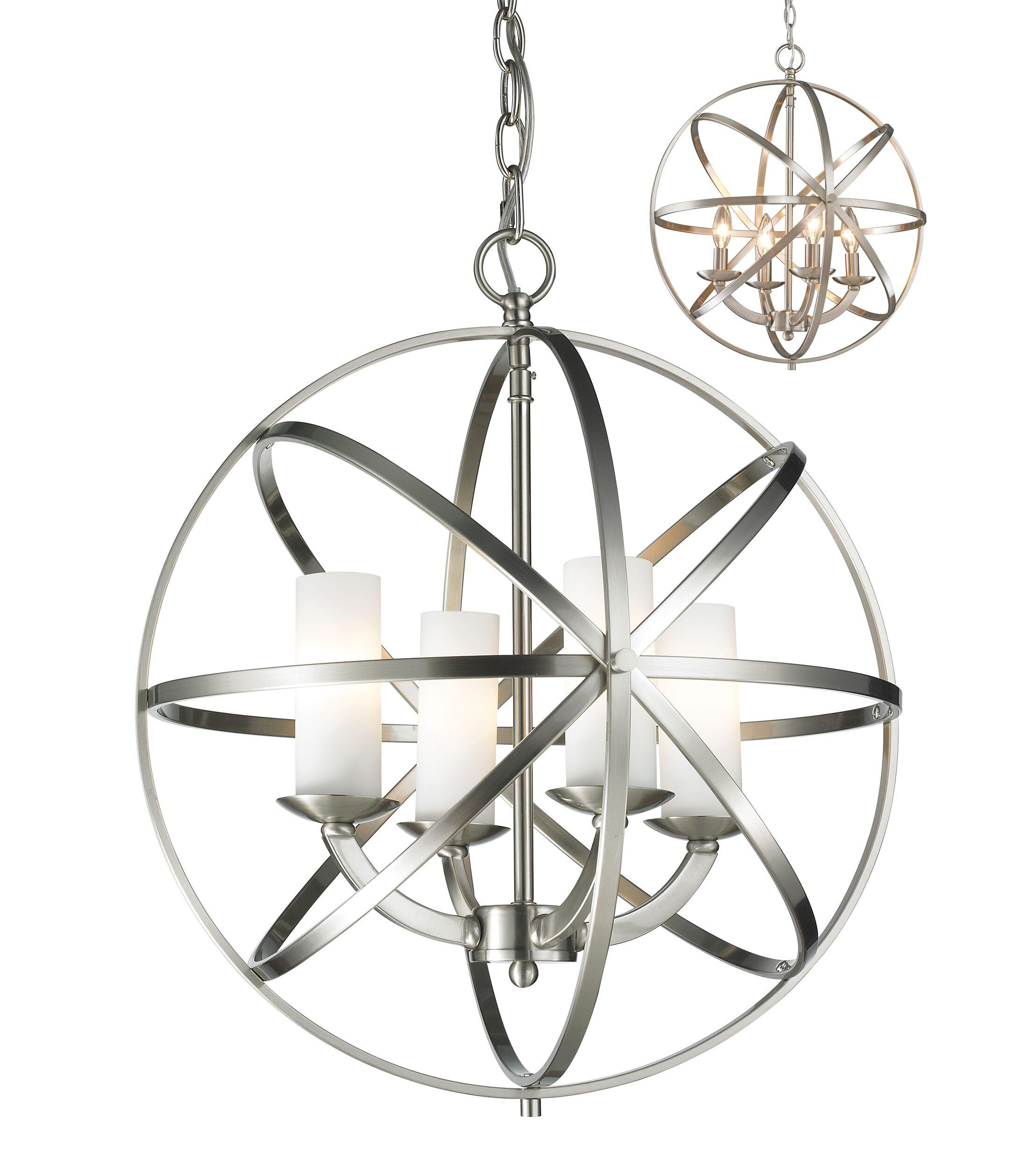 Fridley 4-Light Globe Chandelier Size: 19.29