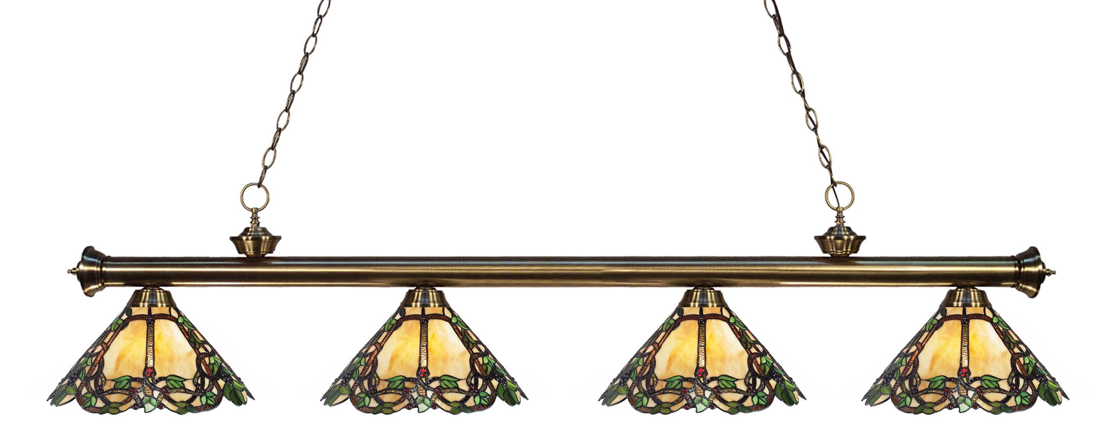 Billington 4-Light Kitchen Island Pendant Color: Antique Brass