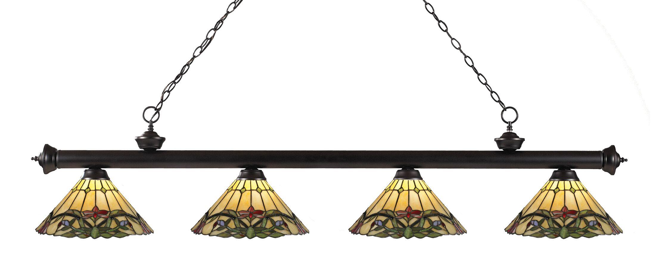 Billington 4-Light Kitchen Island Pendant Color: Bronze