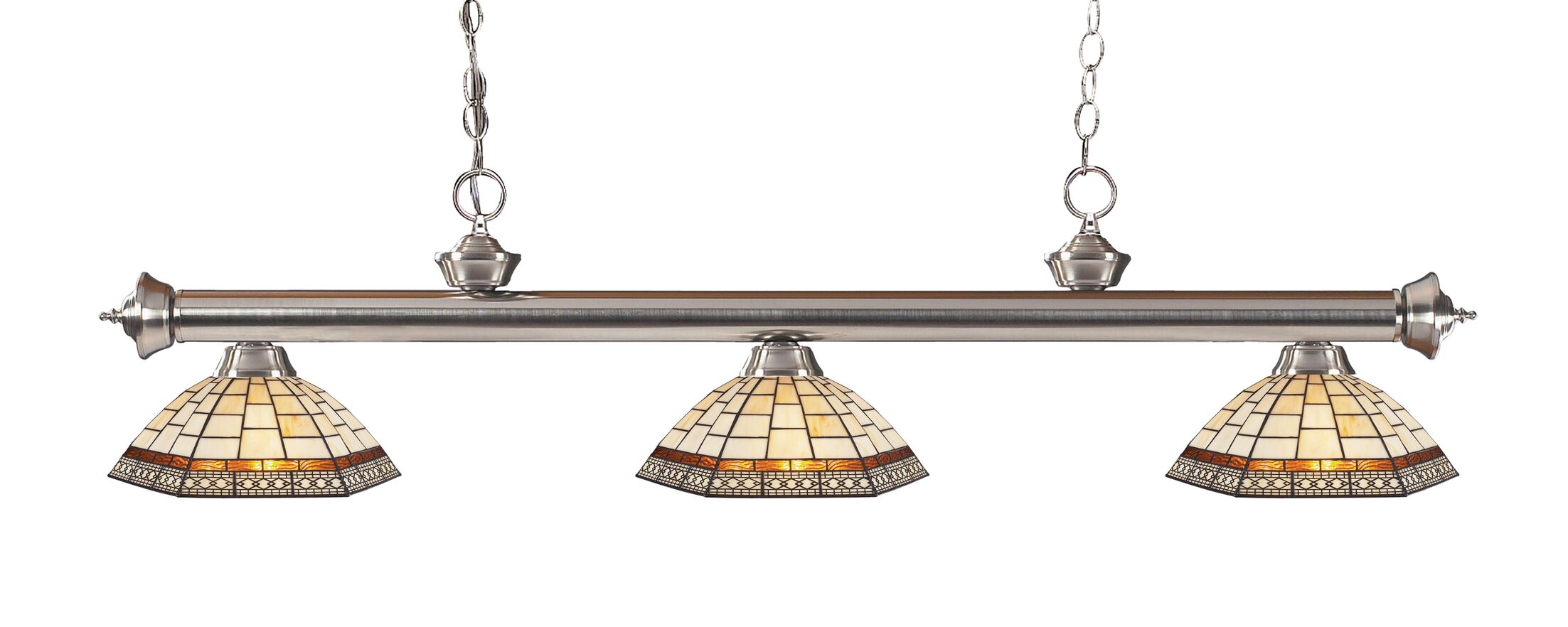 Billington 3-Light Billiard Light Color: Brushed Nickel