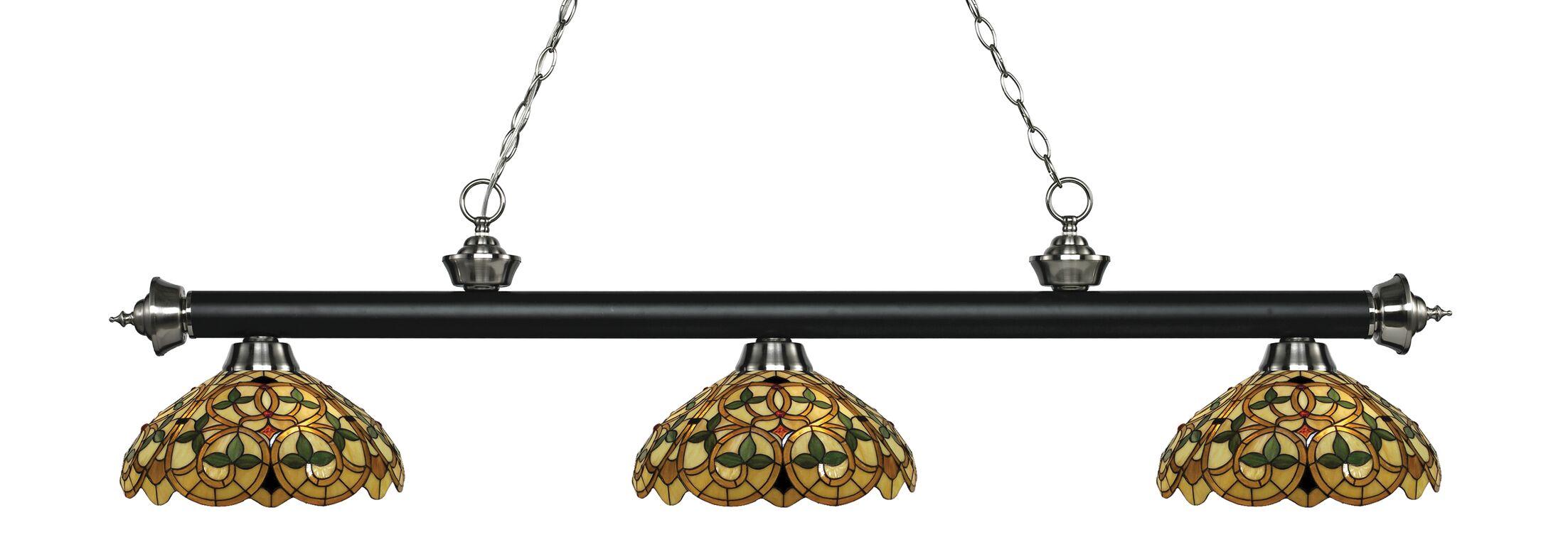 Billington 3-Light Billiard Light Color: Matte Black / Brushed Nickel