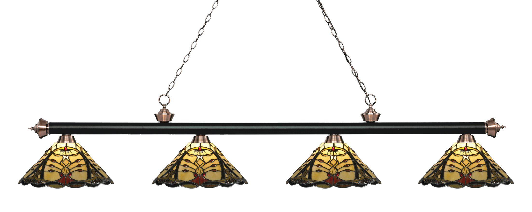 Billington 4-Light Billiard Light Color: Matte Black / Antique Copper