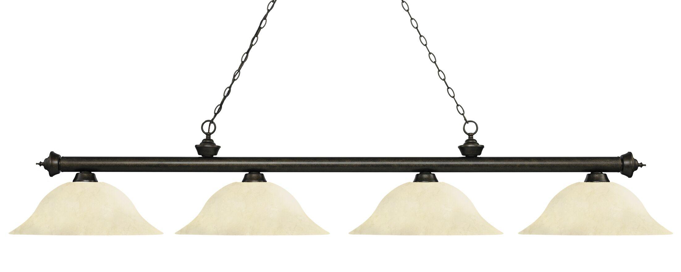 Zephyr Contemporary 4-Light Steel Billiard Light Shade Color: Golden Mottle, Size: 12.5