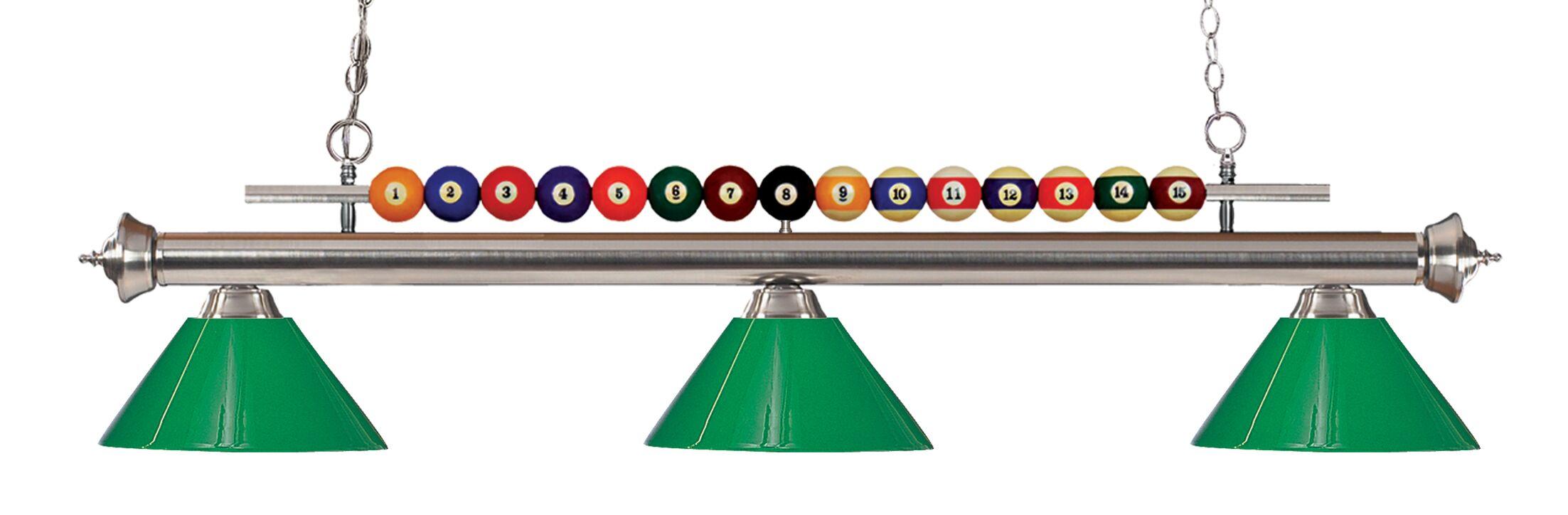 Chapa 3-Light Billiard Light Finish: Brushed Nickel
