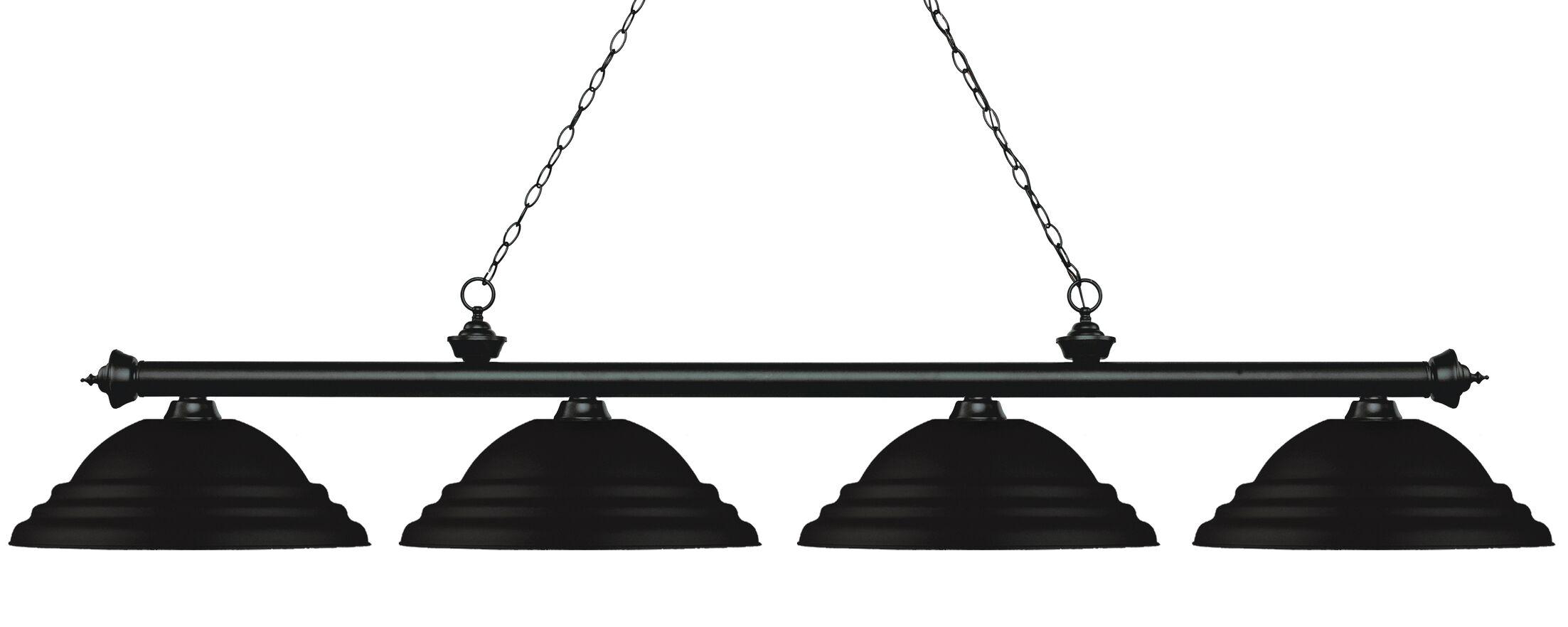 Zephyr 4-Light Metal Shade Billiard Light Shade Color: Matte Black, Finish: Matte Black