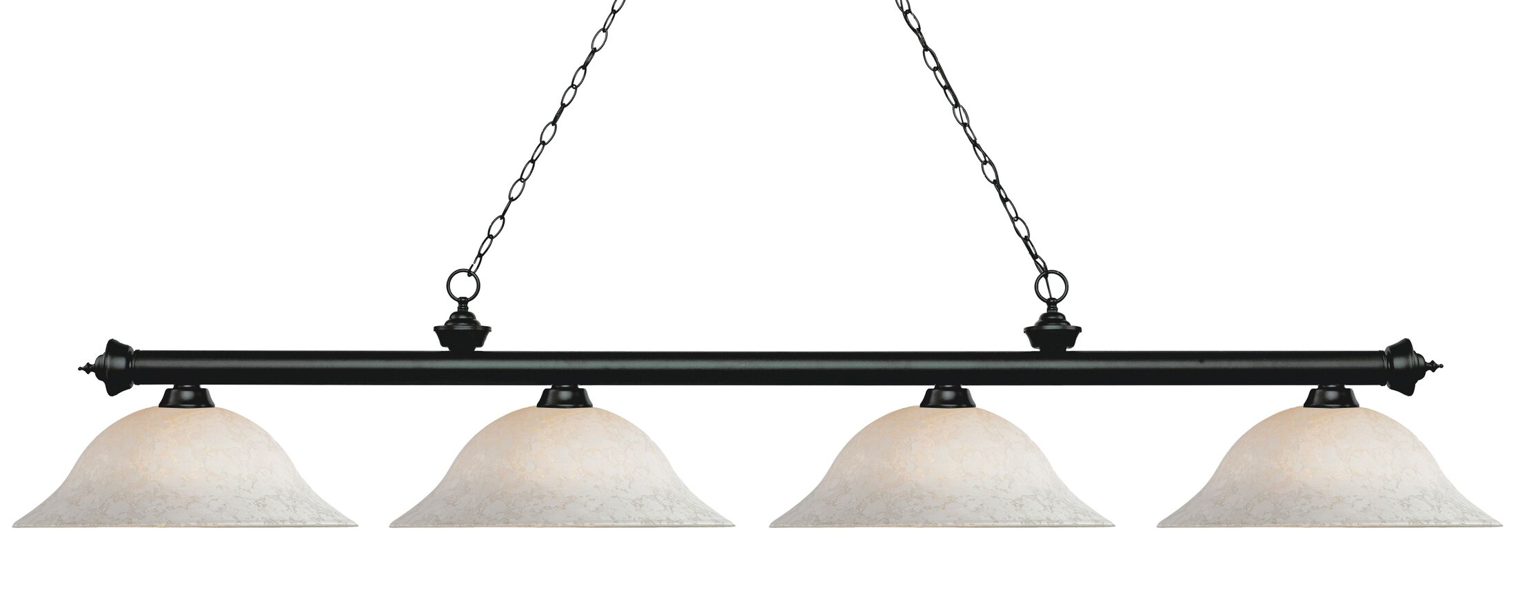 Zephyr 4-Light Billiard Light Shade Color: White Mottle, Size: 12.5