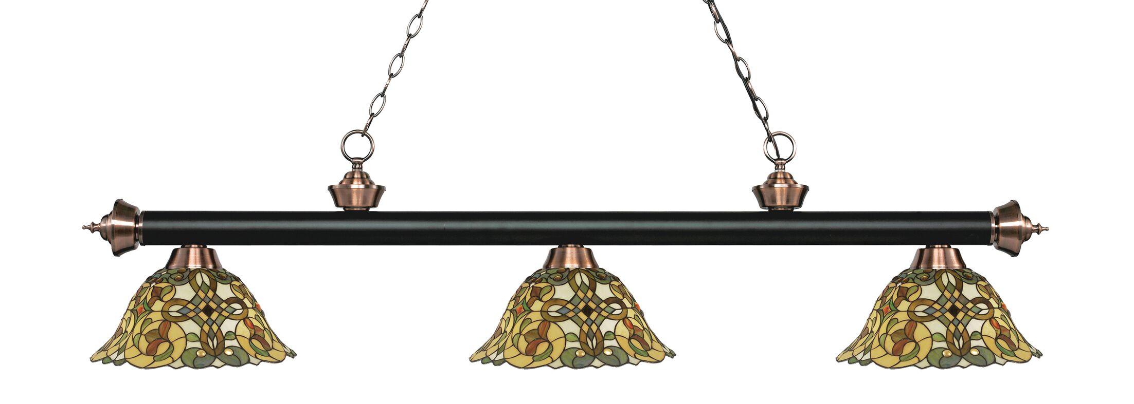 Billington 3-Light Billiard Light Color: Matte Black / Antique Copper