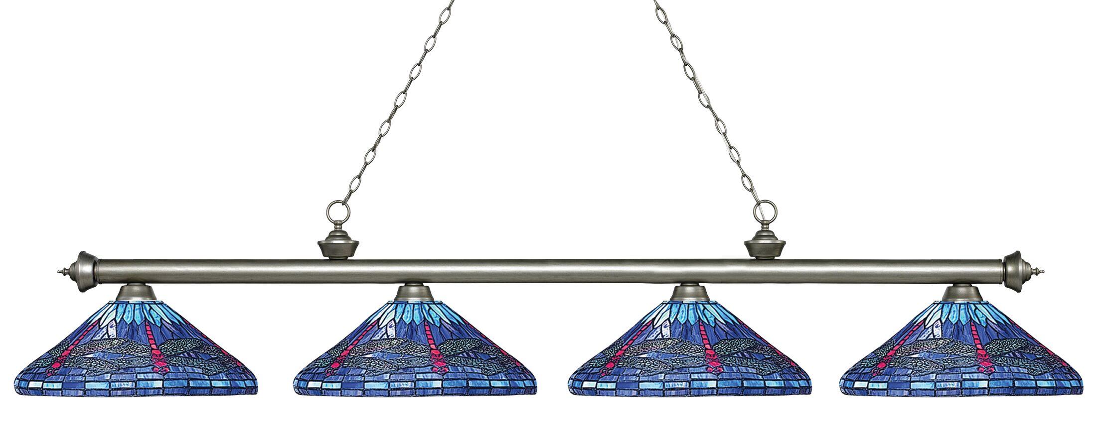 Earleville 4-Light Billiard Light Finish: Antique Silver
