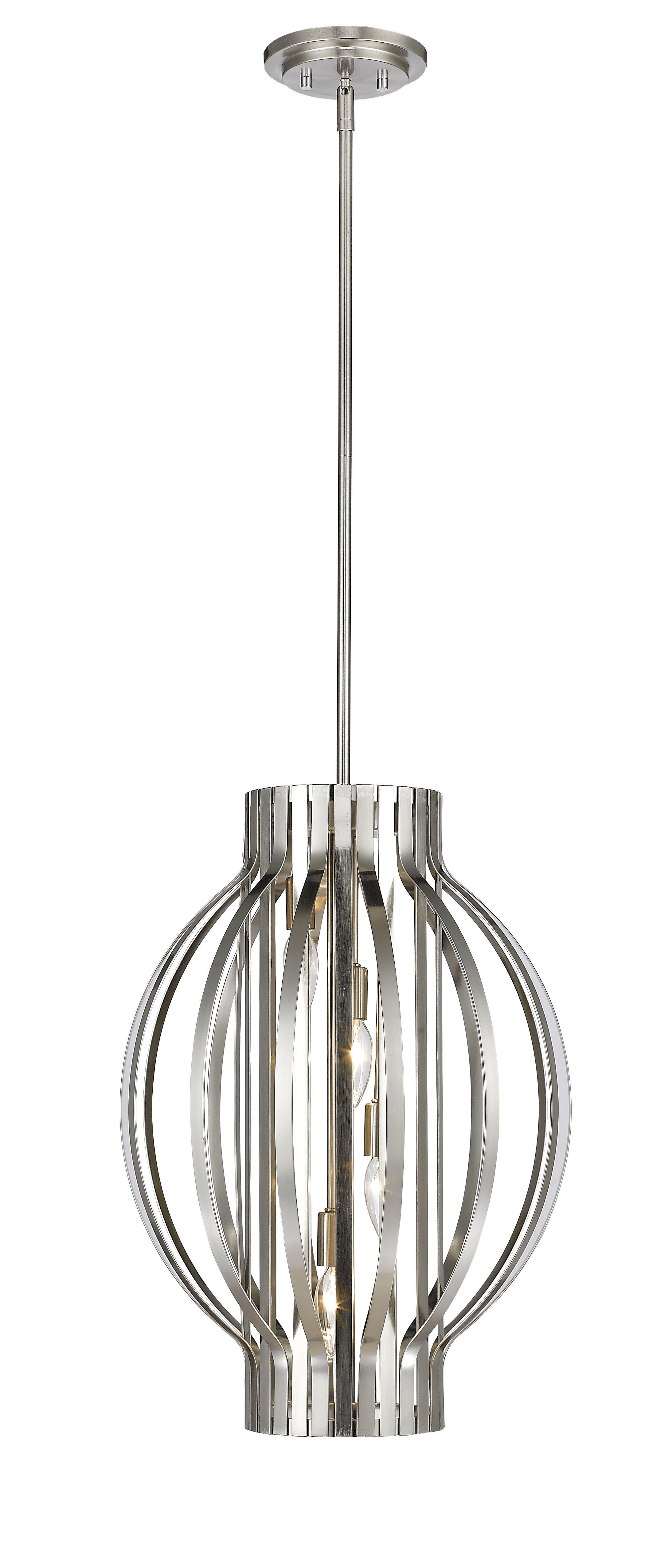 Fava 4-Light Globe Chandelier Finish: Brushed Nickel