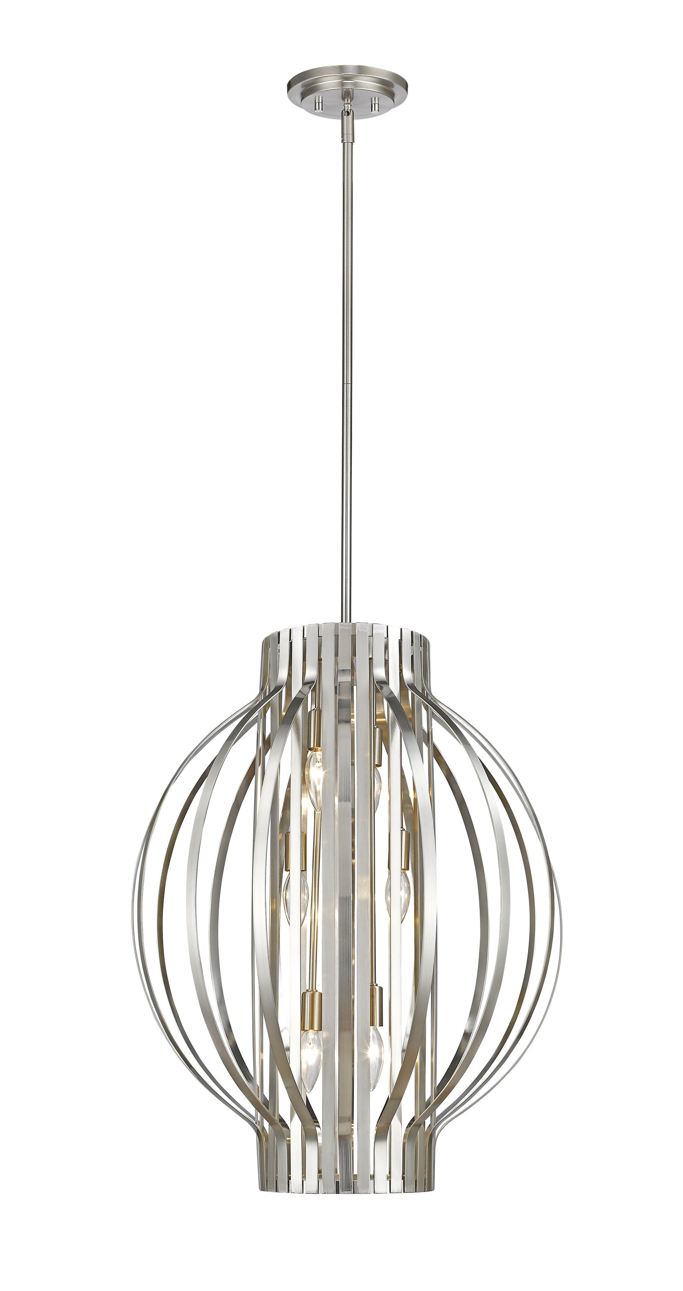 Fava 6-Light Globe Chandelier Finish: Brushed Nickel