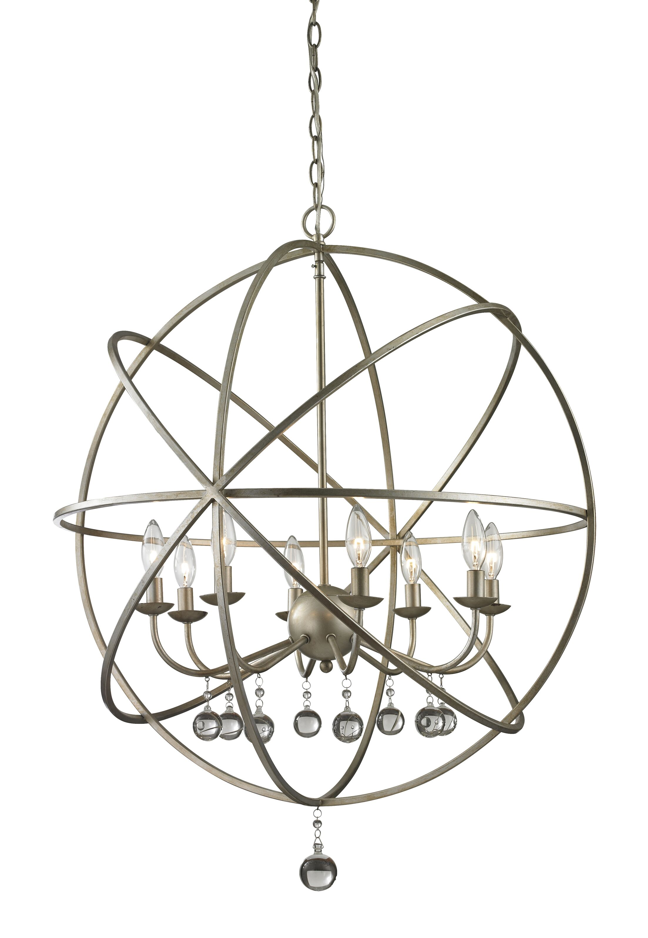 Leonora 8-Light Globe Chandelier Base Finish: Antique Silver
