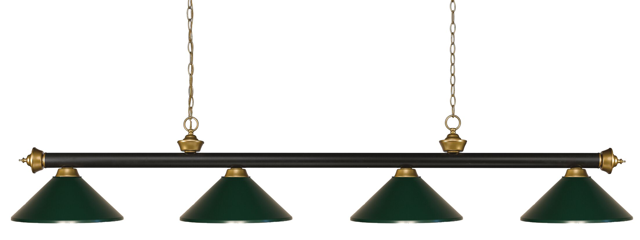 Zephyr 4-Light Cone Metal Shade Pool Table Light Shade Color: Dark Green