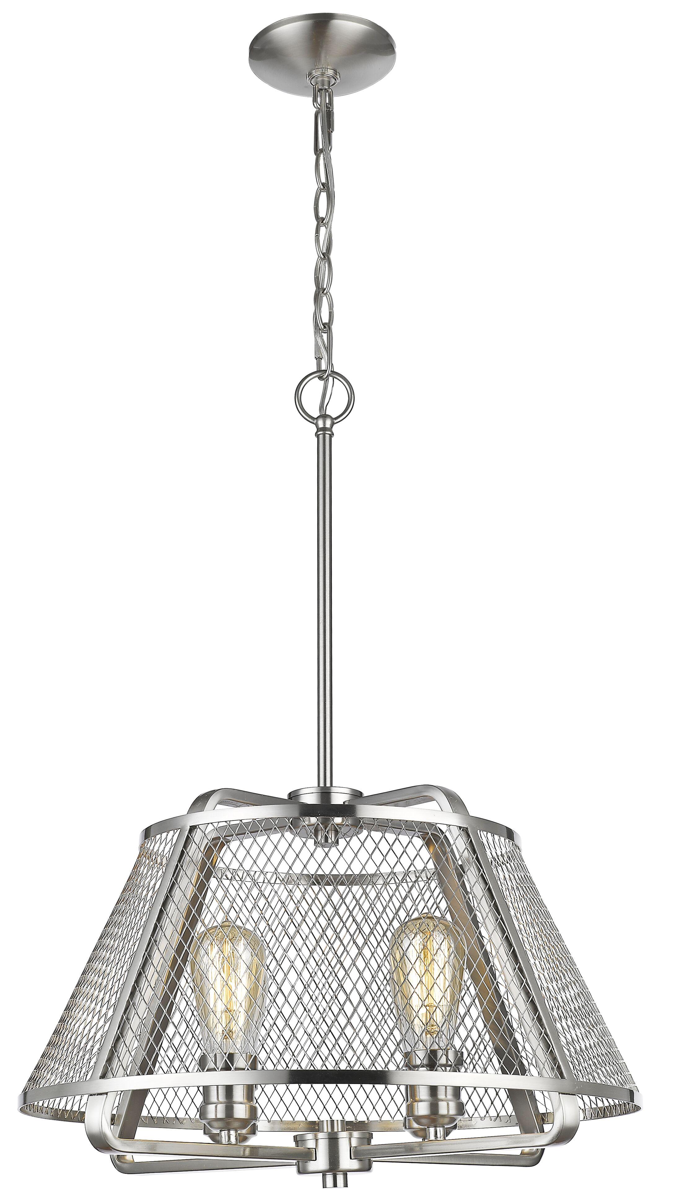 Valya 4-Light Cone Pendant Finish: Brushed Nickel