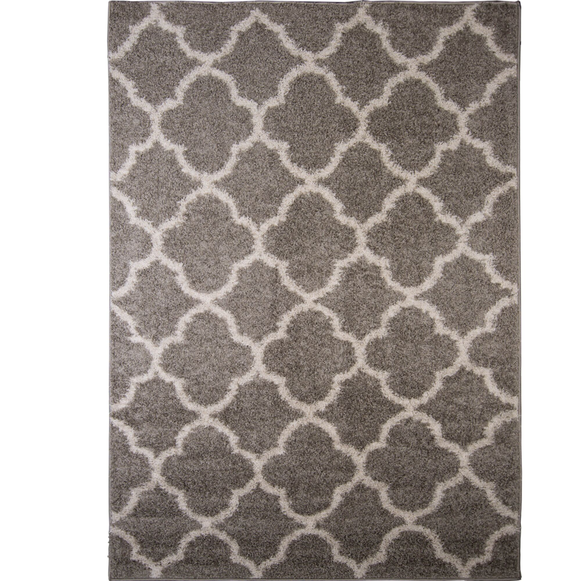 Synergy Gray/White Area Rug Rug Size: Rectangle5'2