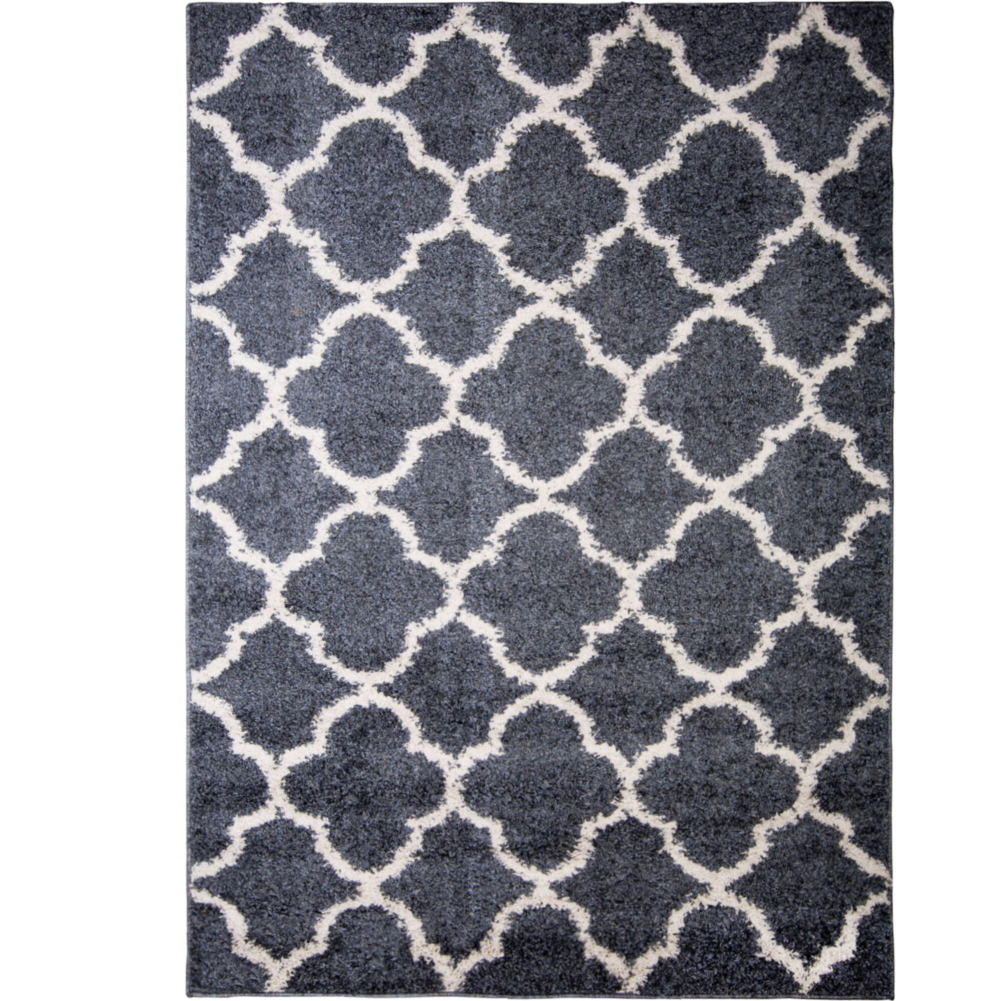Synergy Blue/White Area Rug Rug Size: Rectangle 9'2
