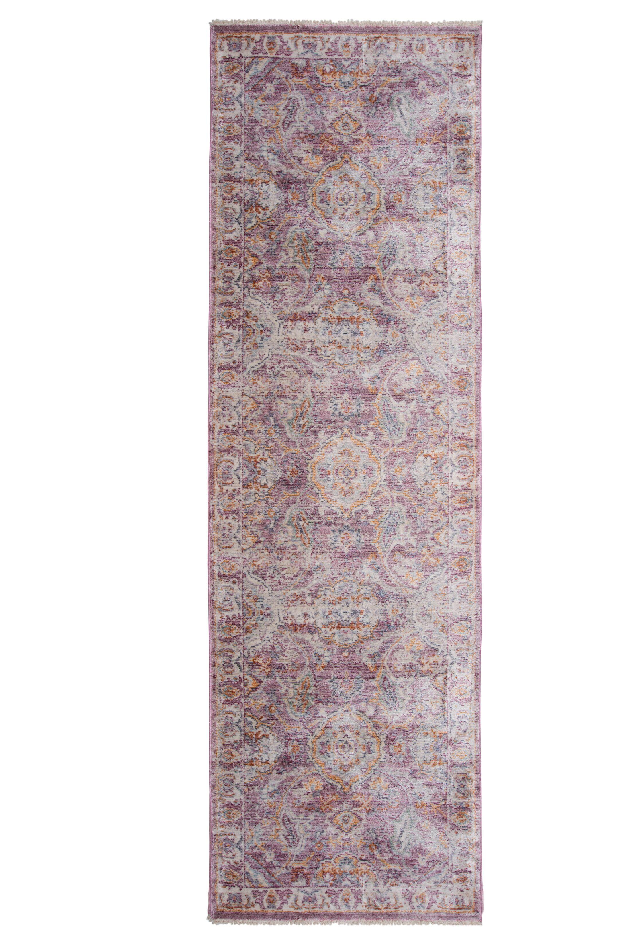 Artisan Blue/Pink Area Rug Rug Size: Runner 2'2