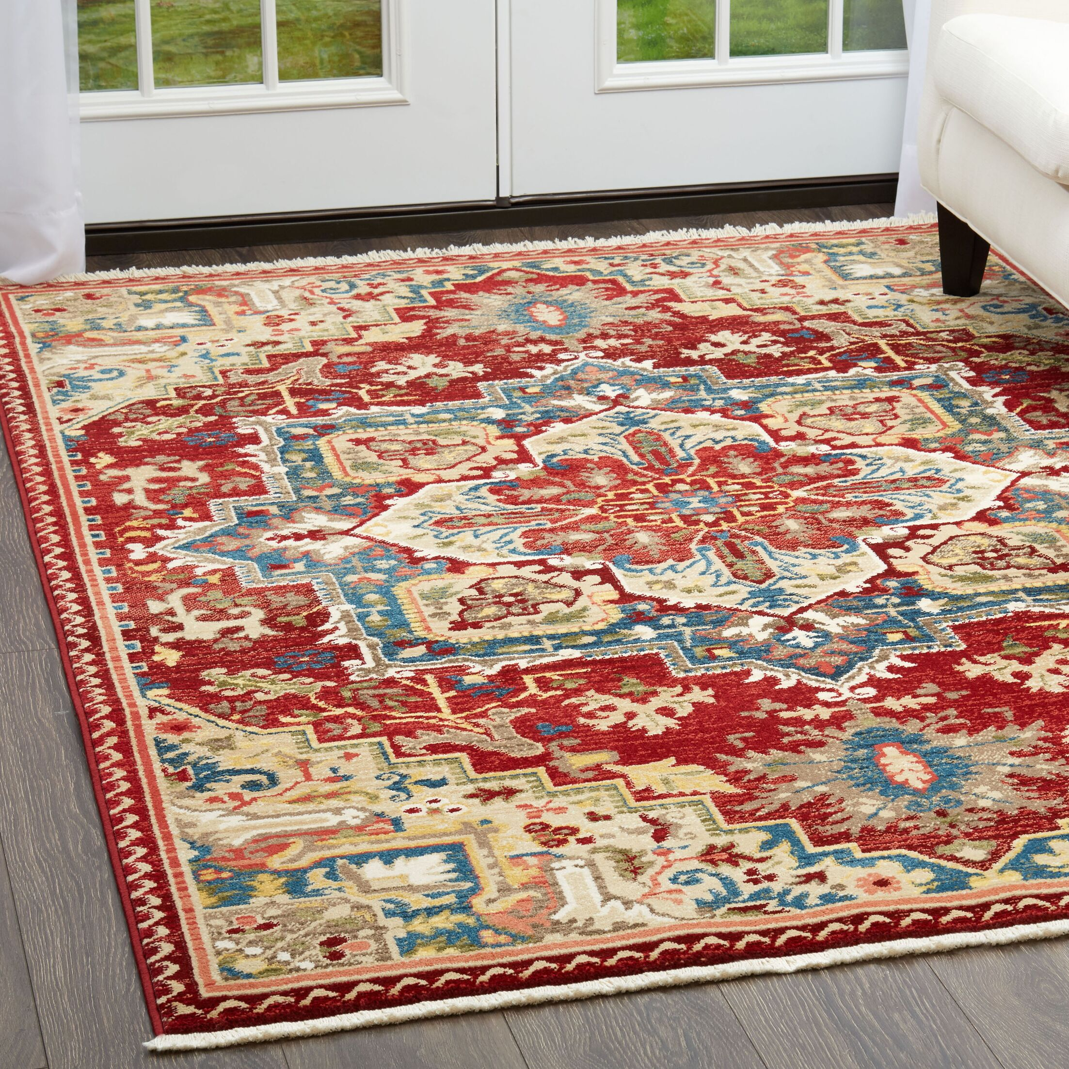 Ridgefield Red Area Rug Rug Size: Rectangle 7'9