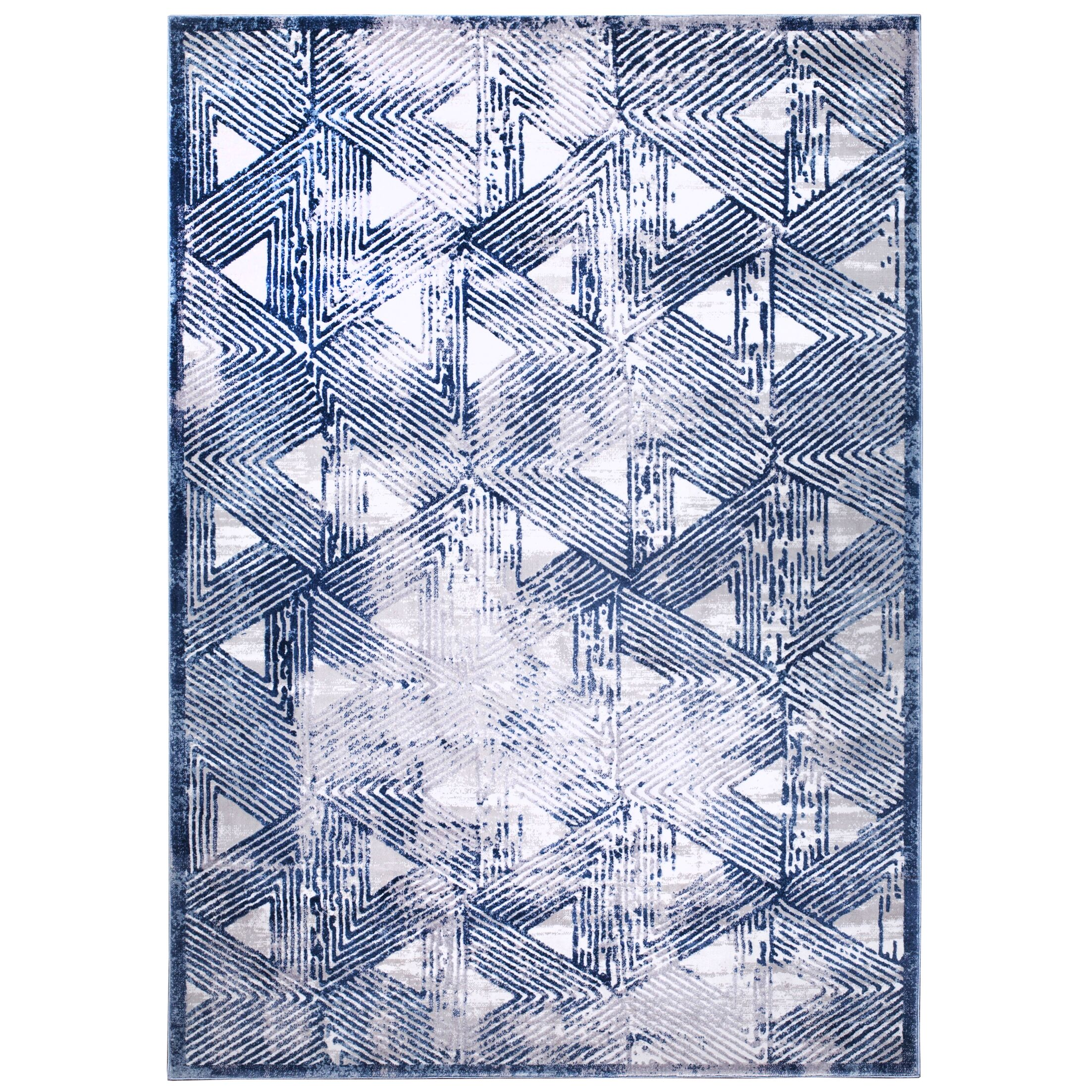 Kenmare Gray/Blue Area Rug Rug Size: Rectangle 9'2
