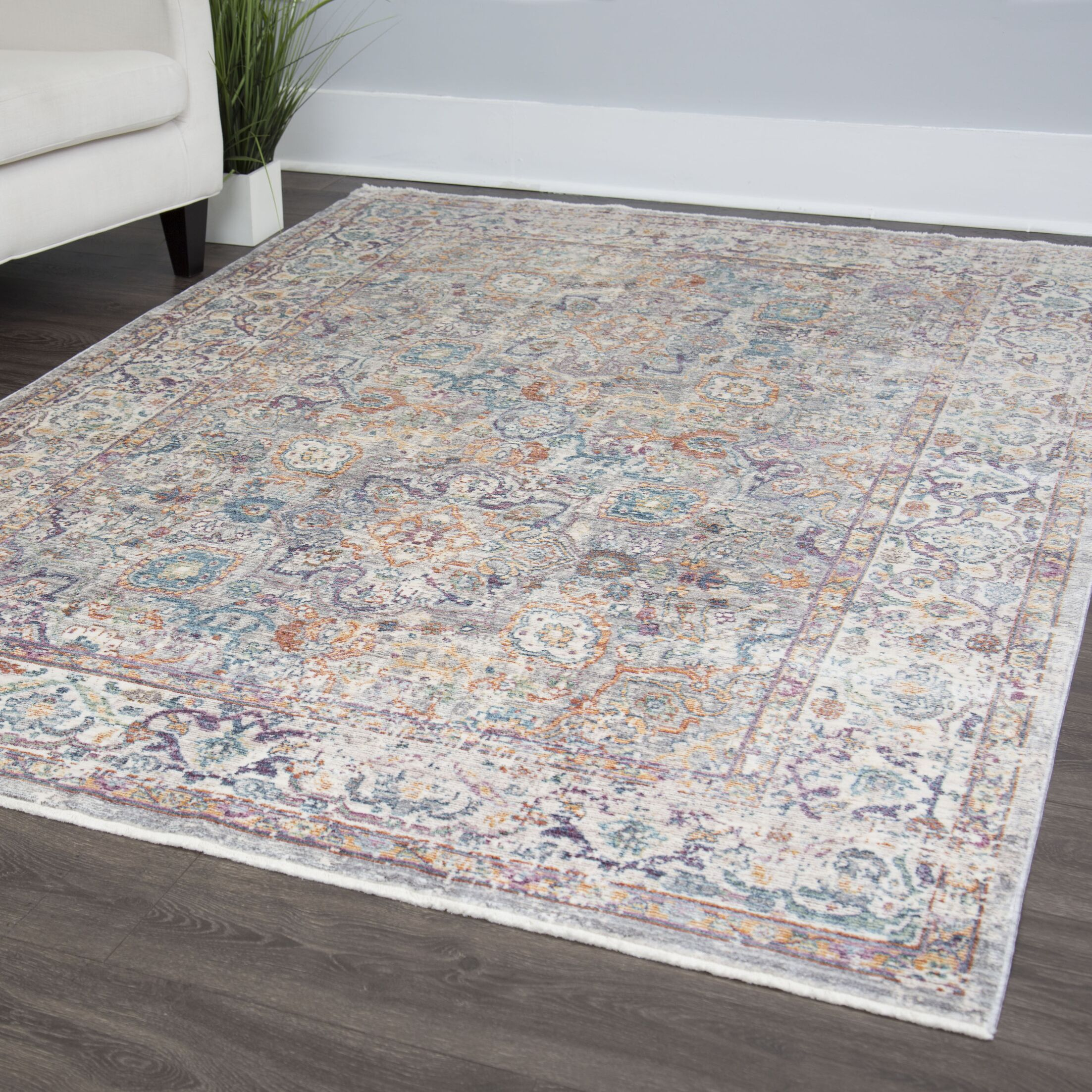 Artisan Blue/Pink Area Rug Rug Size: Rectangle 5'3