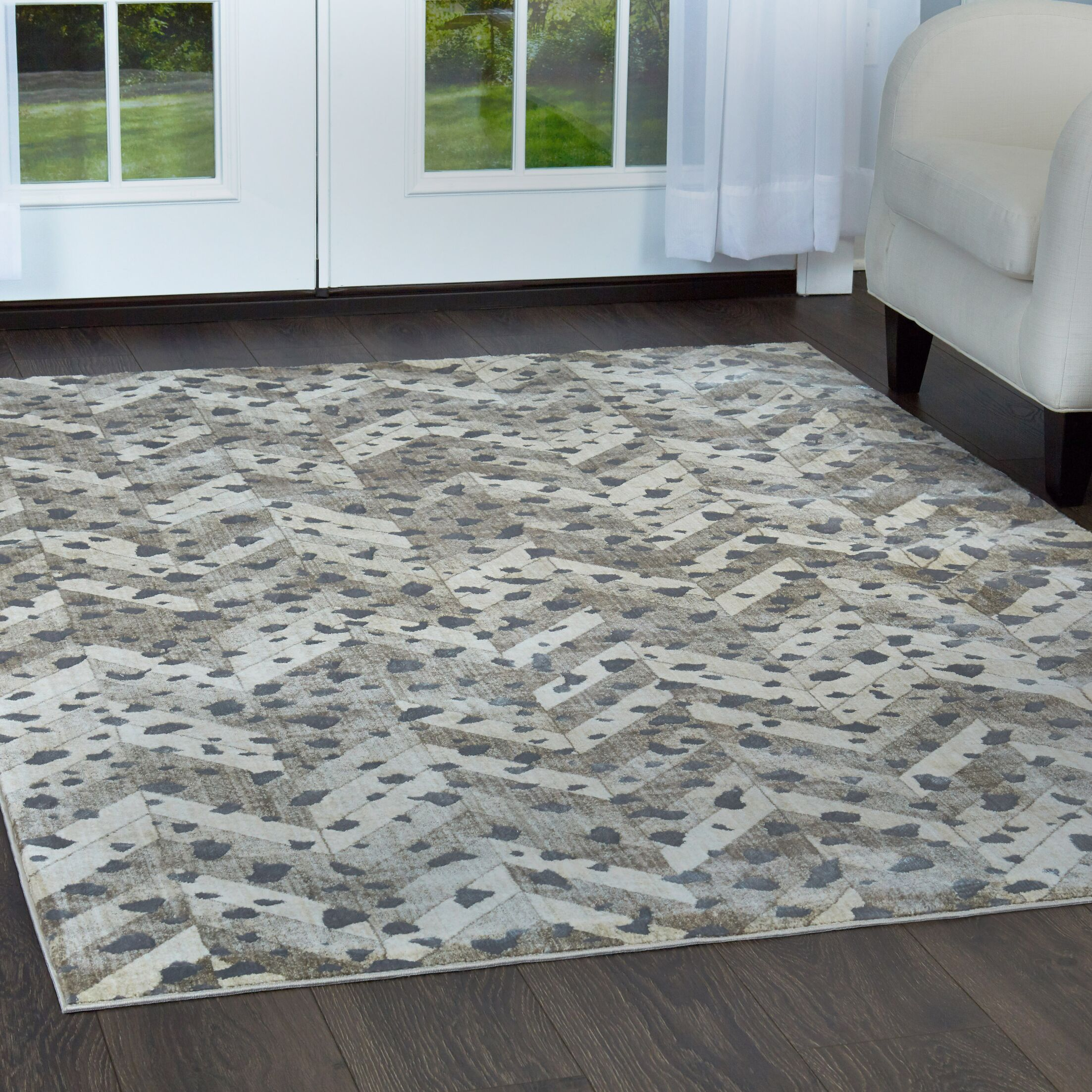Nicole Miller Nagala Mahal Taupe Area Rug Rug Size: Rectangle 5'3