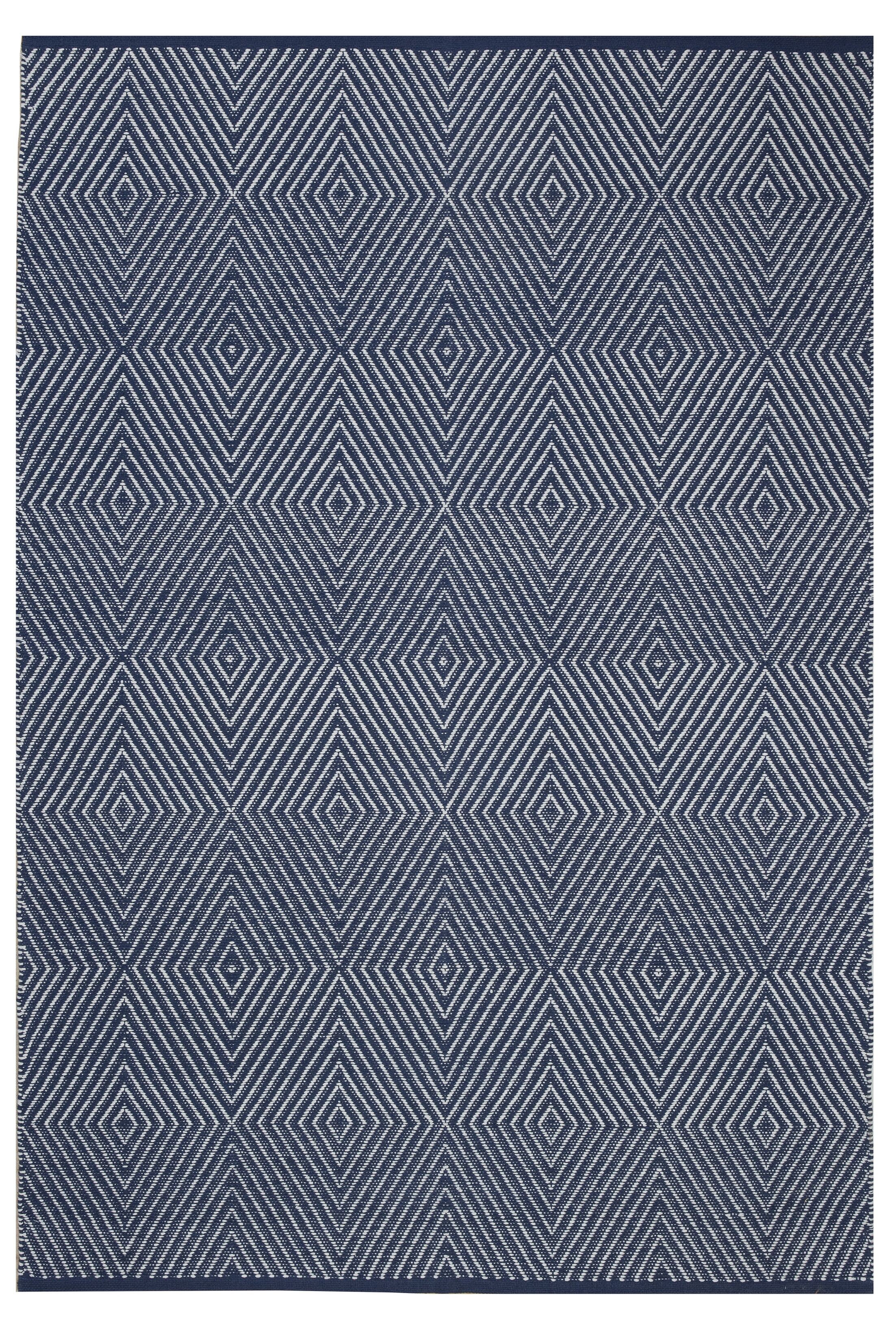 Criswell Hand-Woven Cotton Dark Blue Area Rug Rug Size: Rectangle 6' x 9'