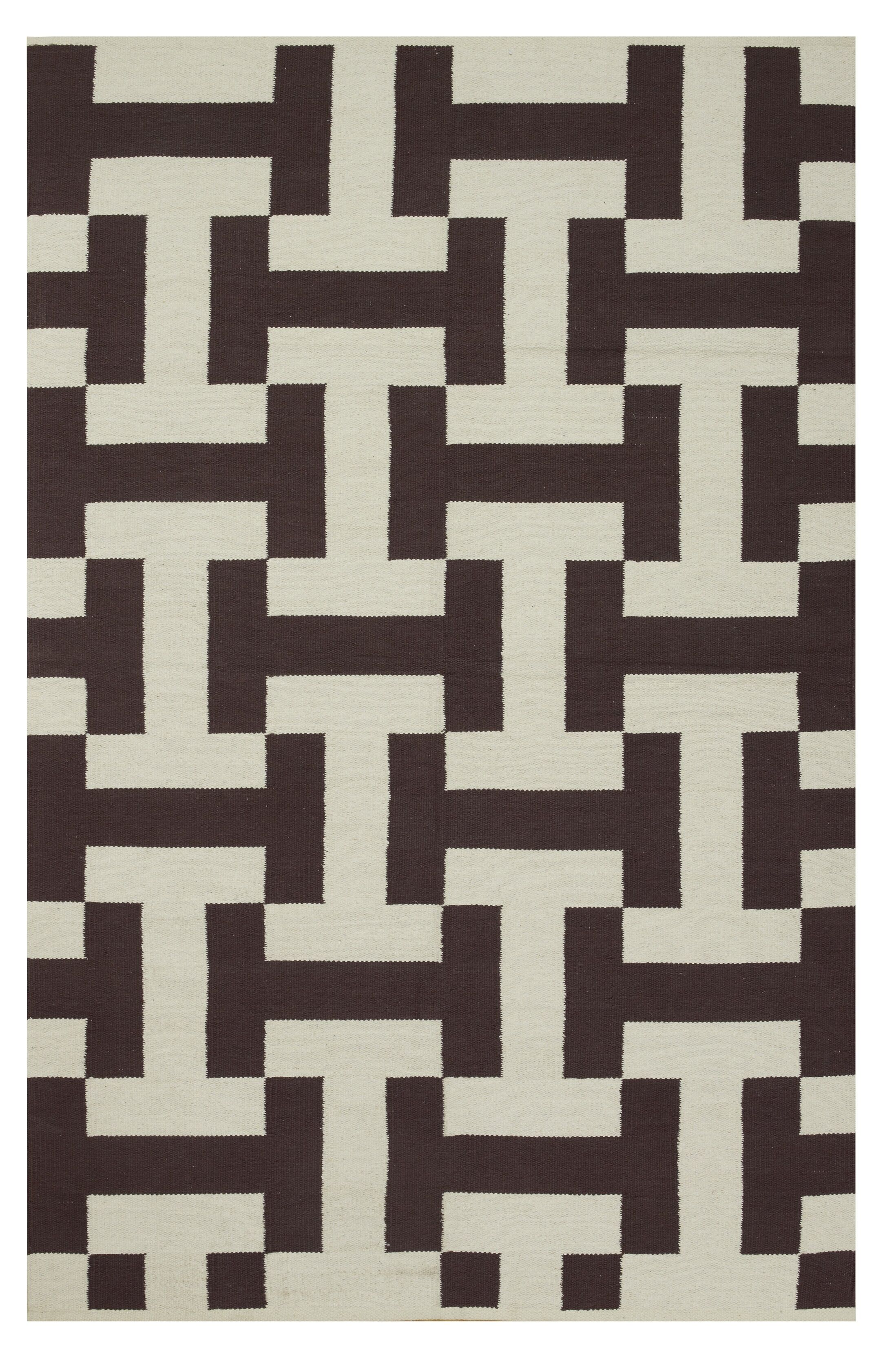 Metro Canal Coffee/Beige Rug Rug Size: 6' x 9'