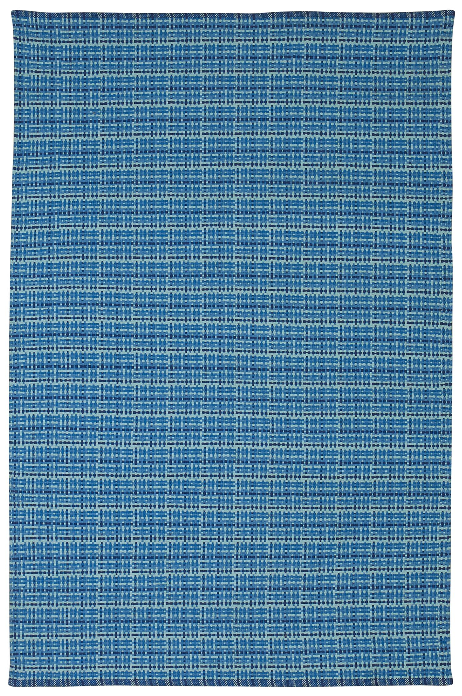 Zen Theory Cotton Blue Area Rug Rug Size: 4' x 6'