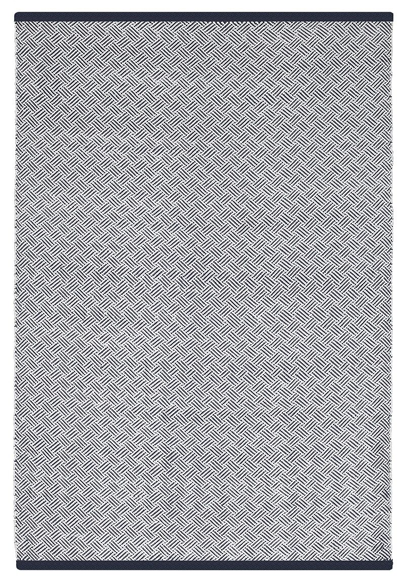 Estate Hand-Woven Blue Indoor/Outdoor Area Rug Rug Size: 4' x 6'
