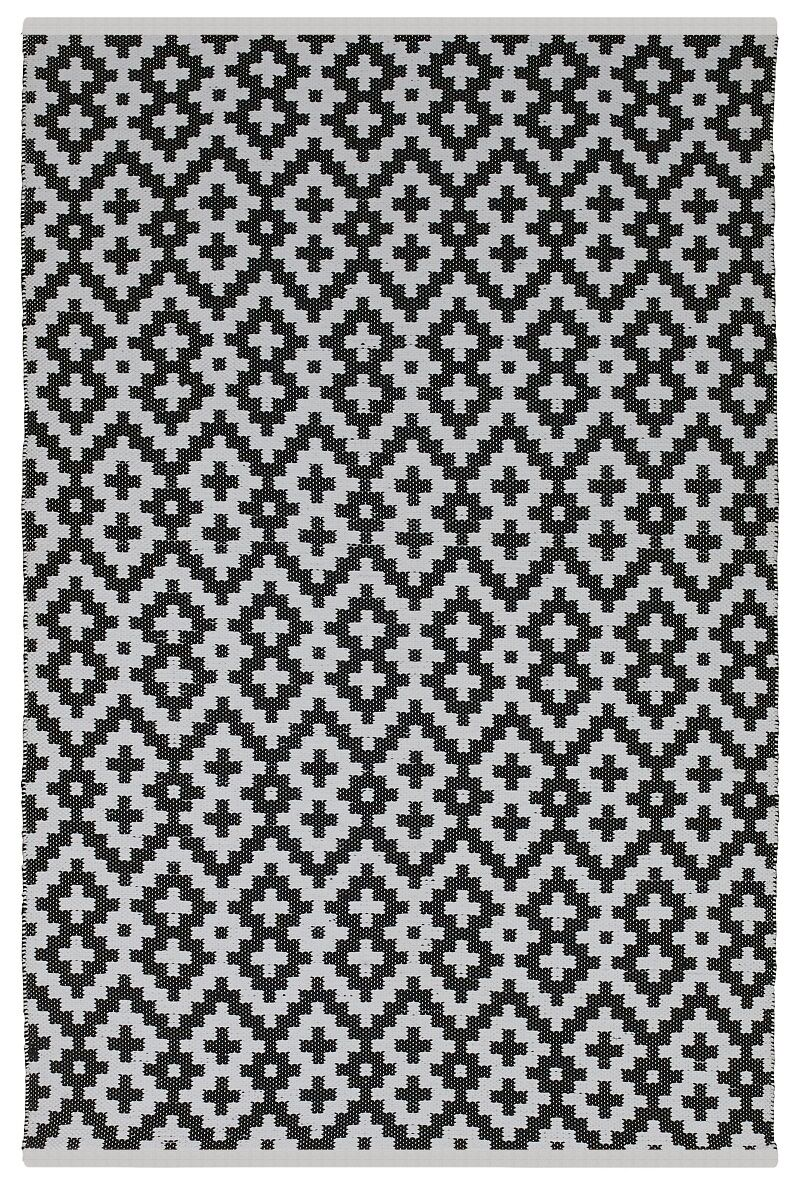 Estate Samsara Hand-Woven Black/White Indoor/Outdoor Area Rug Rug Size: Rectangle 8' x 10'