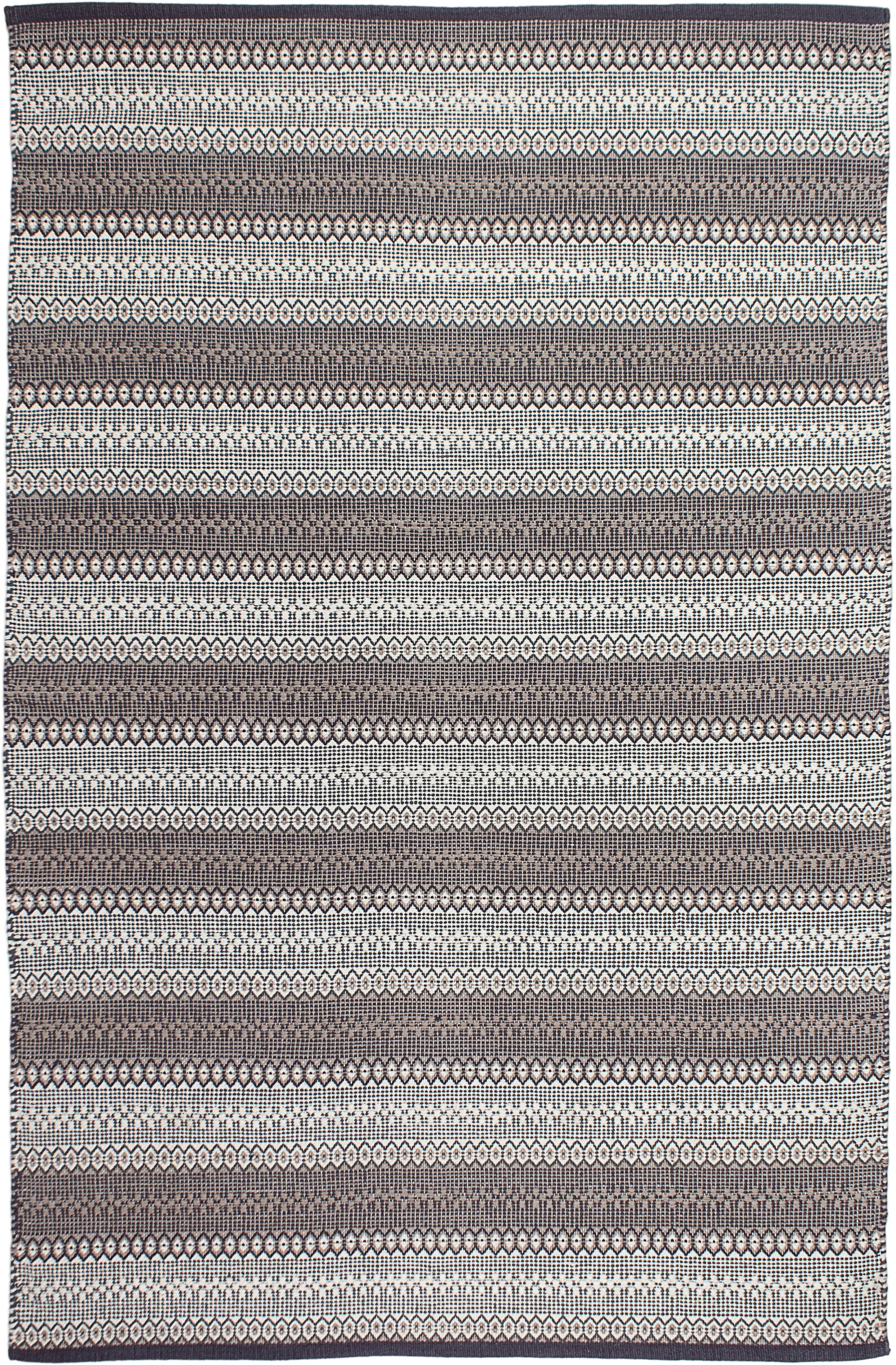 Estate Hand-Woven Gray Area Rug Rug Size: 6' x 9'