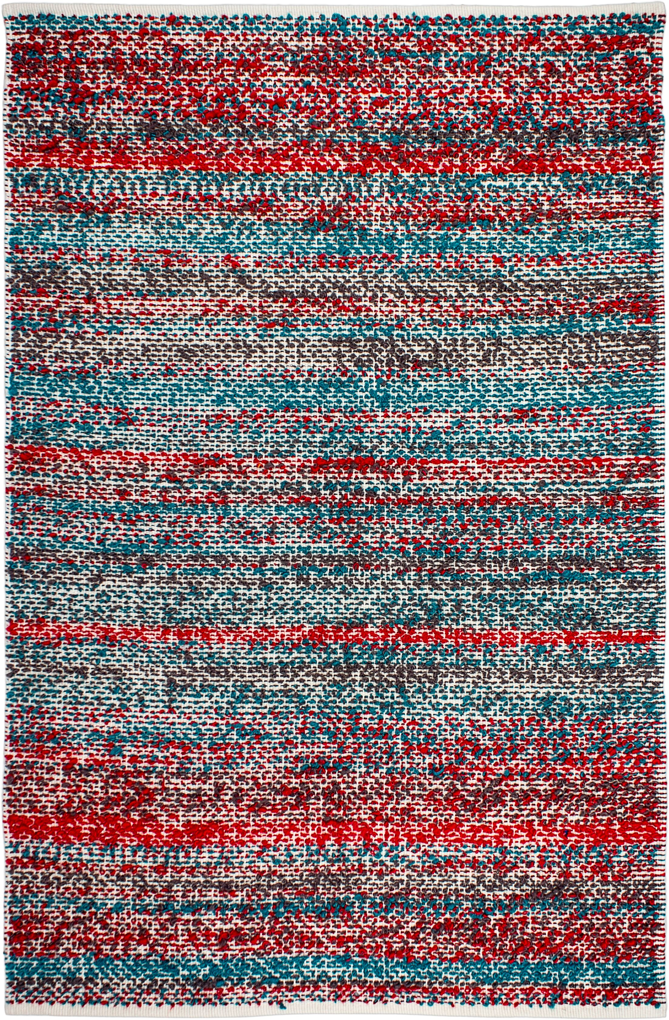 Estate Hand-Woven Multi-Colored Indoor/Outdoor Area Rug Rug Size: 6' x 9'