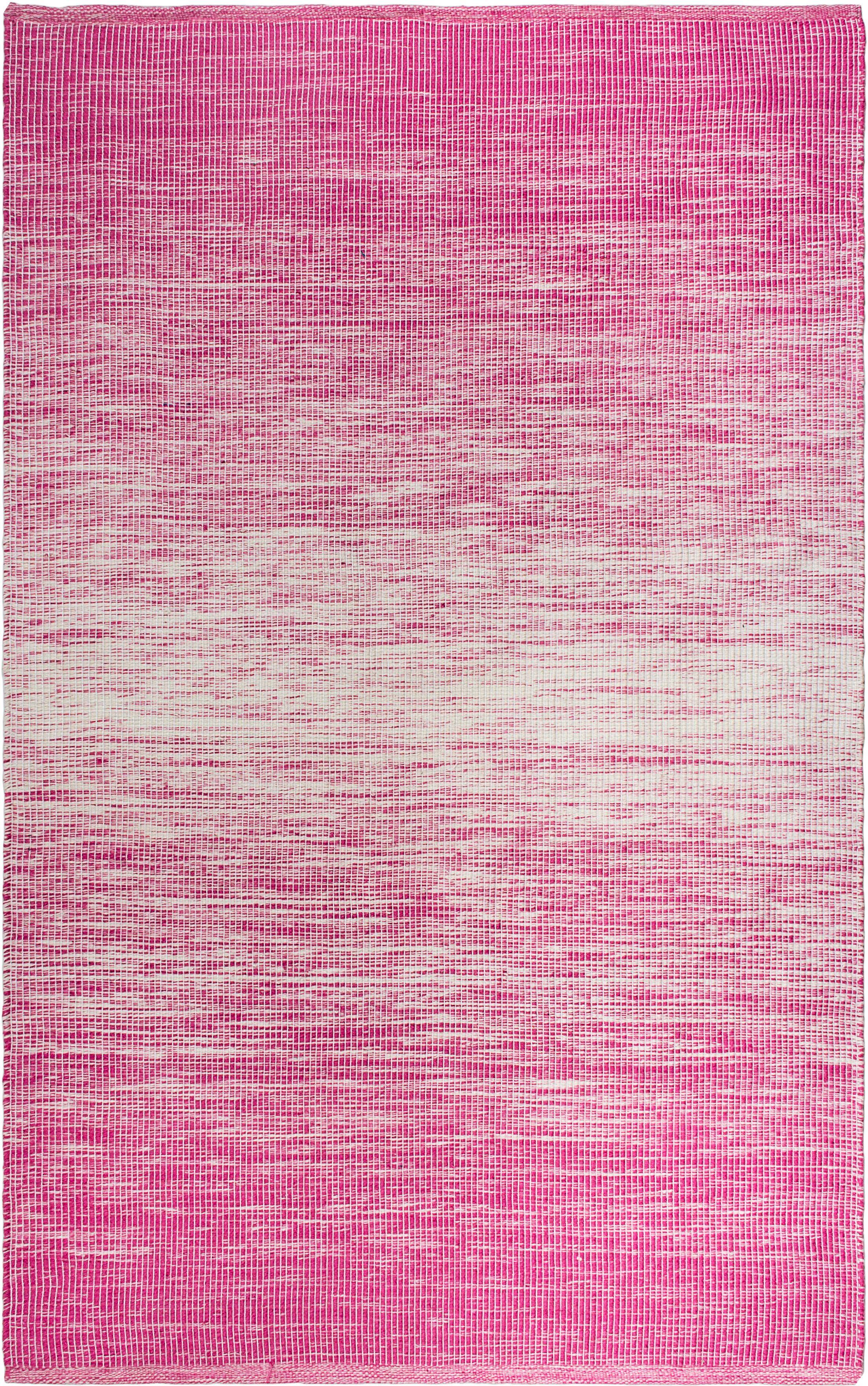 Estate Hand-Woven Pink Indoor/Outdoor Area Rug Rug Size: 5' x 8'
