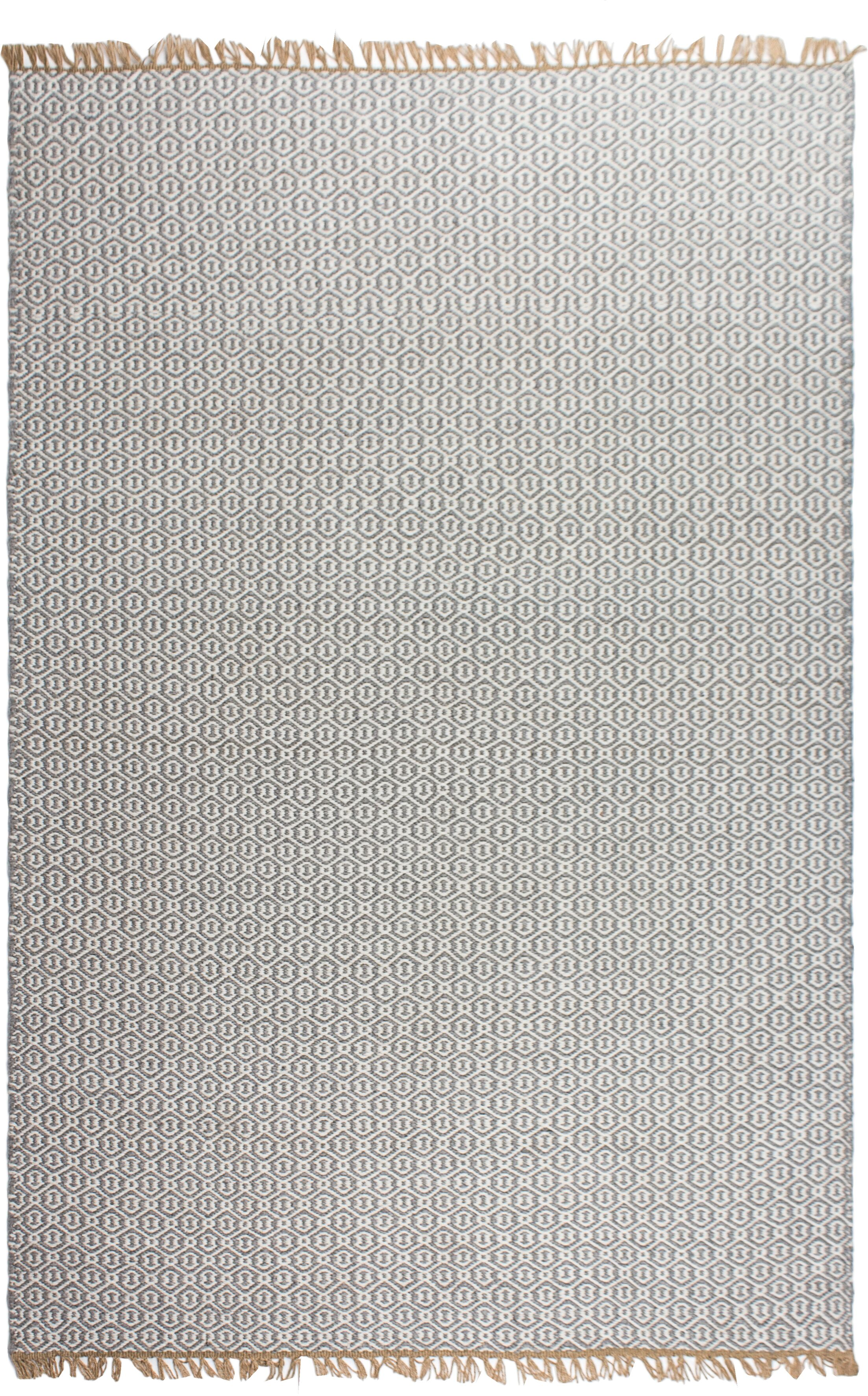 Estate Hand-Woven Gray Indoor/Outdoor Area Rug Rug Size: 6' x 9'