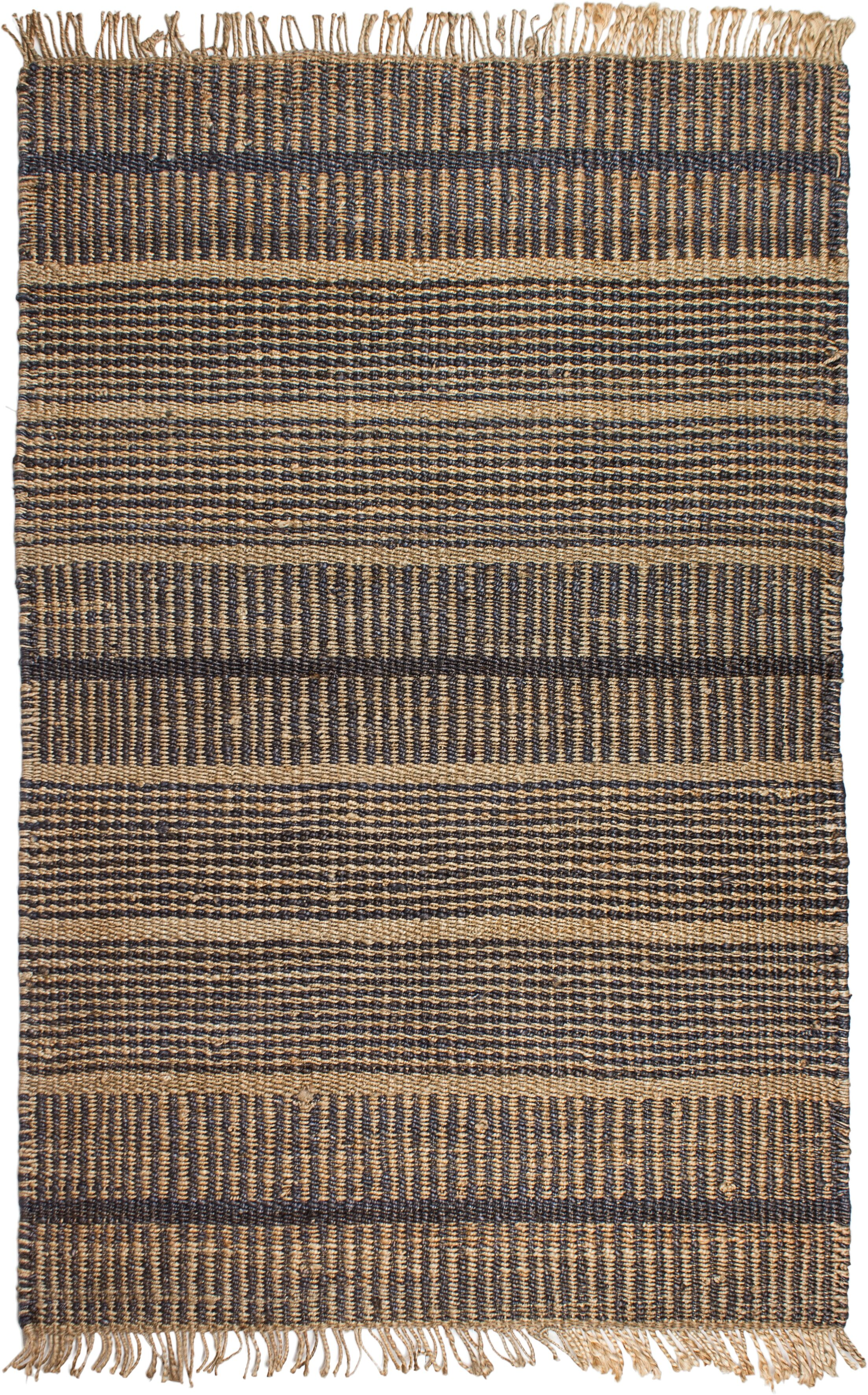 Ginger Hand-Woven Charcoal Area Rug Rug Size: Rectangle 8' x 10'