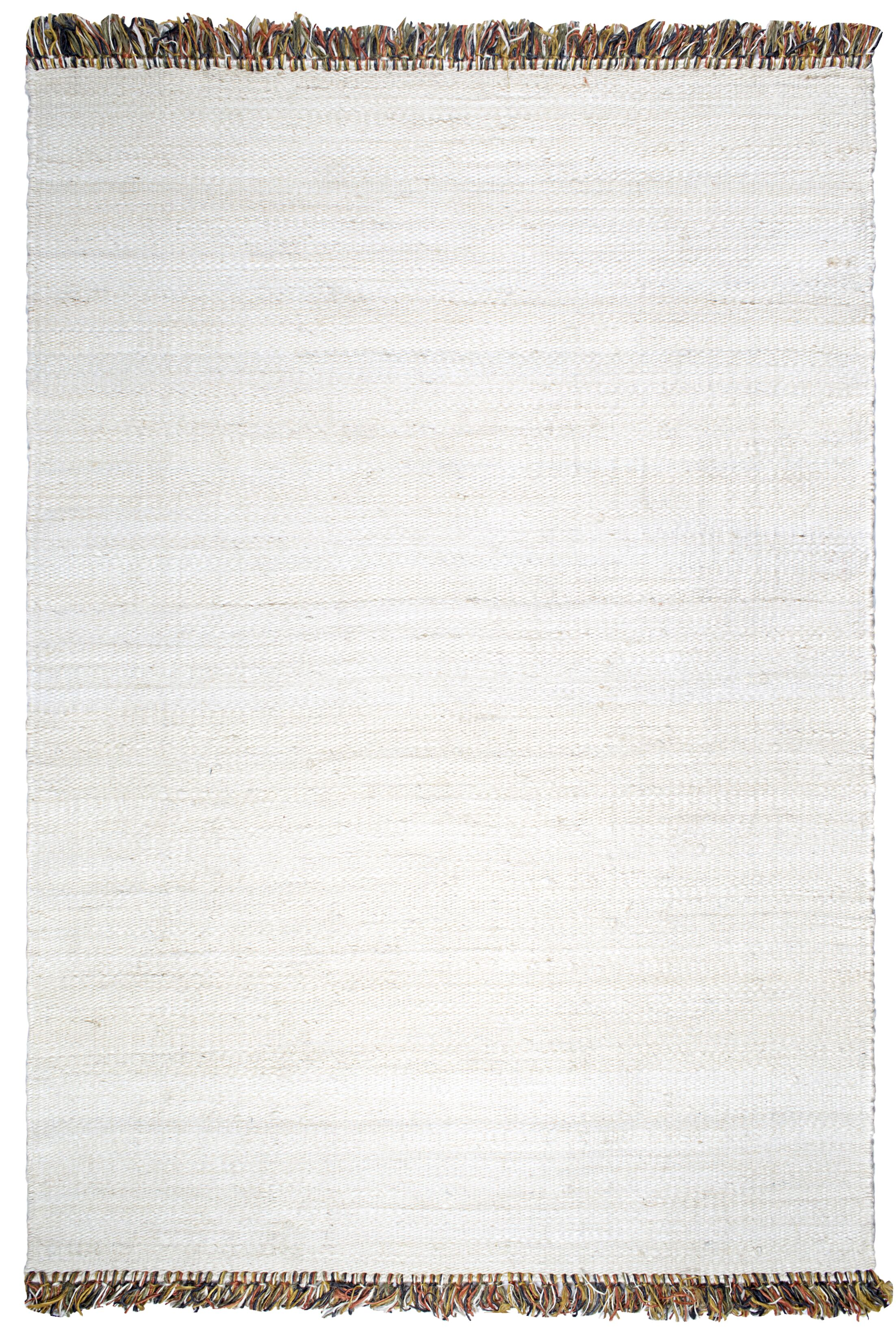 Skidmore Saguaro Hand-Woven White Area Rug Rug Size: 8' x 10'
